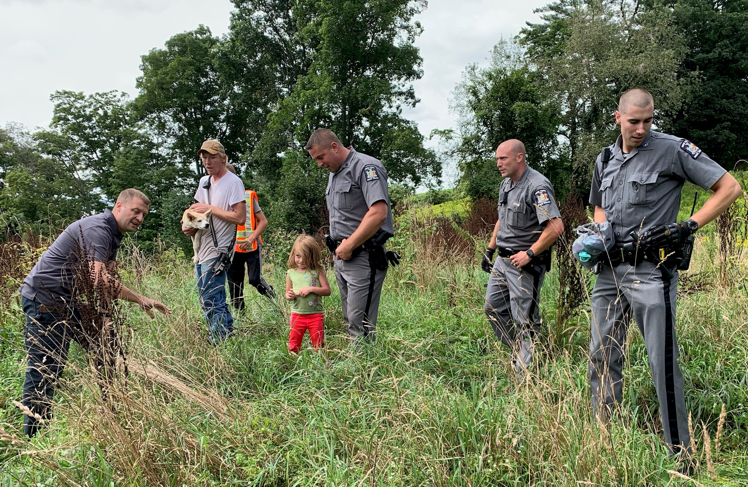 Photo of the day: 5-year-old girl, puppy found safe south of Oneonta