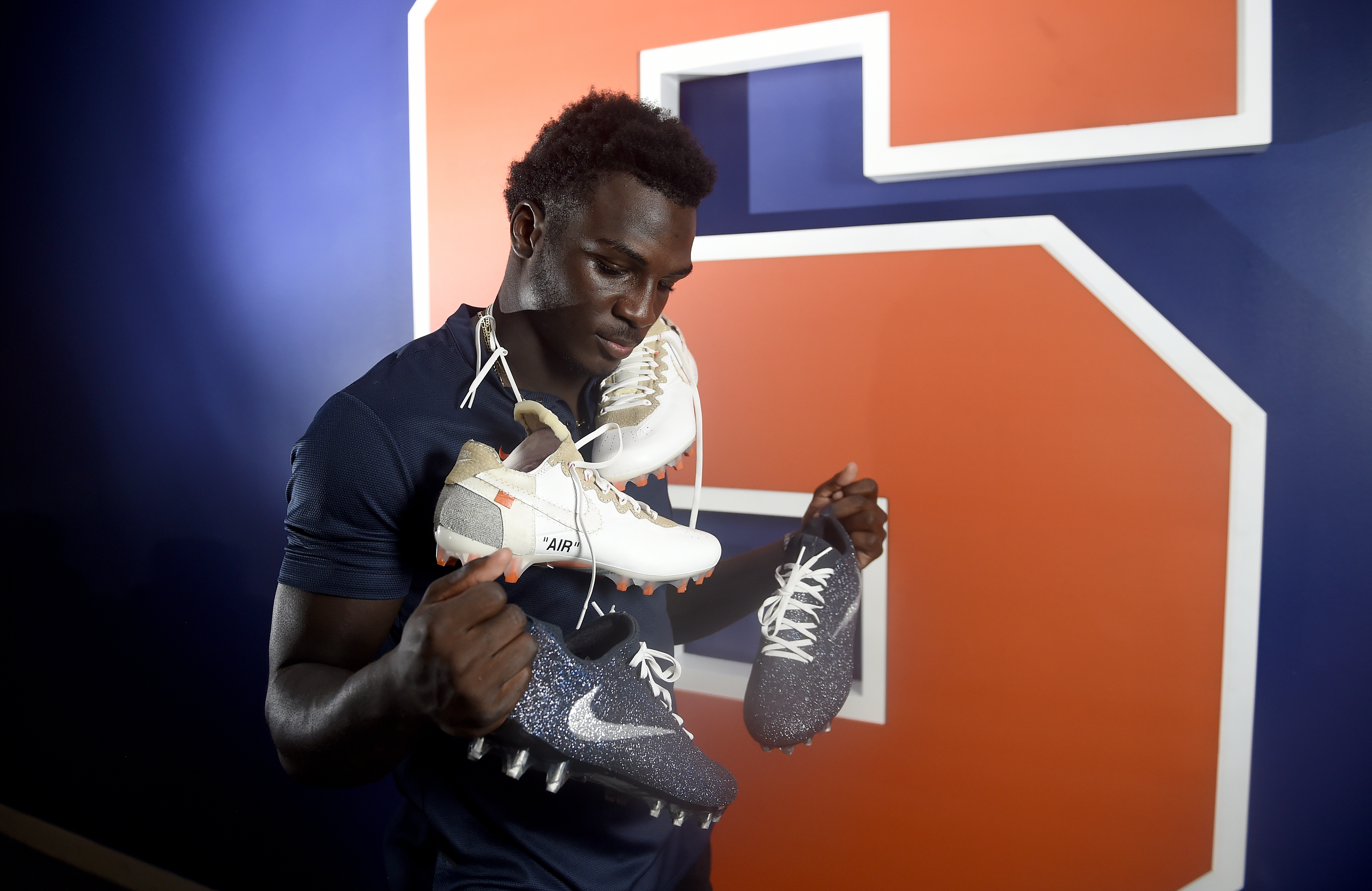 Syracuse DB Trill Williams' custom cleats started with spray paint