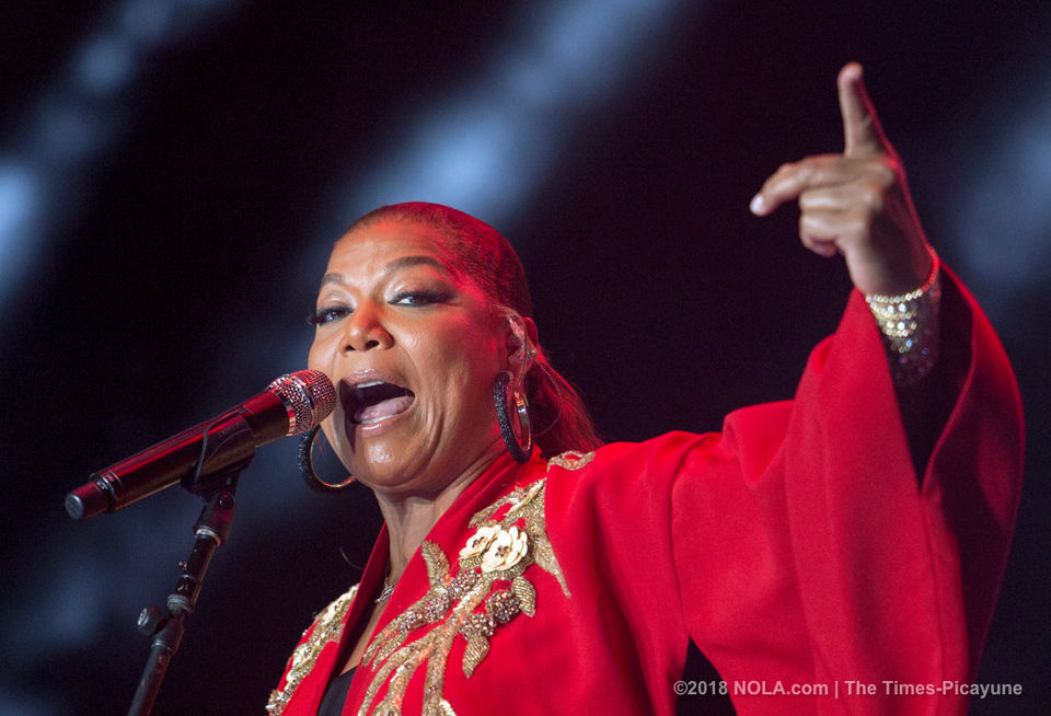 Singer/actress Queen Latifah starred in the popular 2017 movie 'Girls Trip,' which included a fictional visit to the Essence Festival and contributed to the success of the 2018 event.