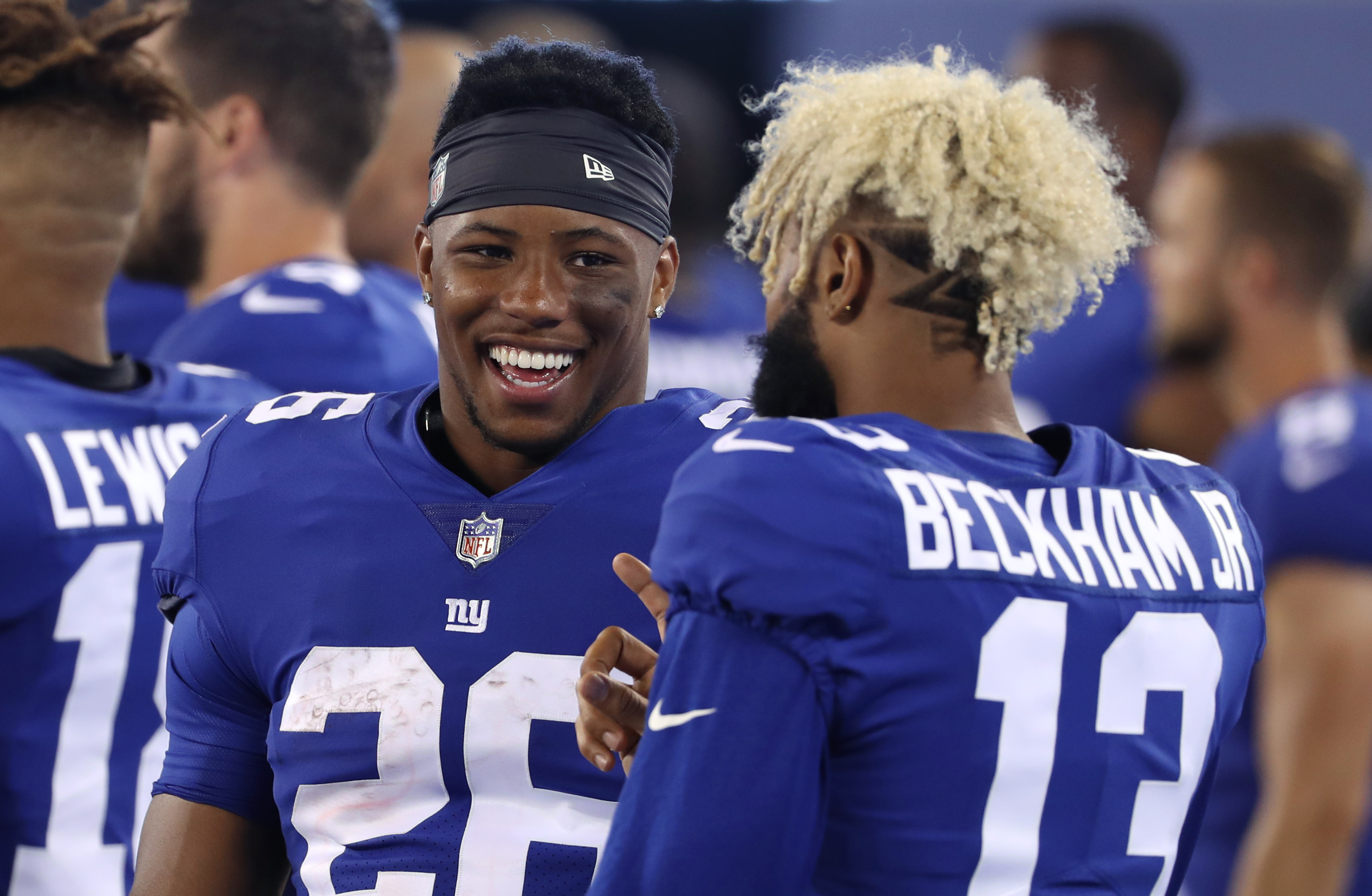 Here is what Giants' Saquon Barkley told me about Odell Beckham Jr. blockbuster trade at Penn State Pro Day