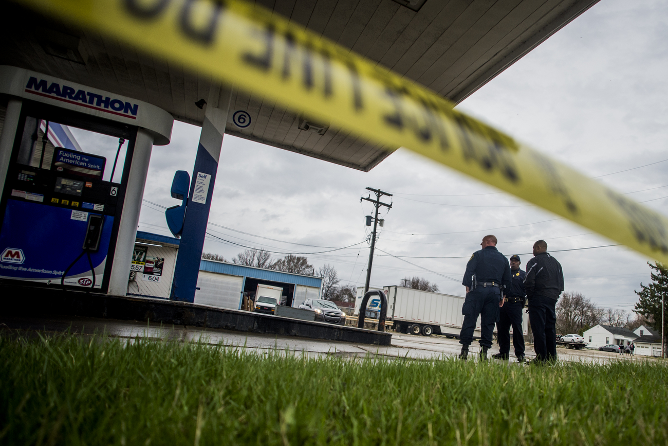 Grandmother caught in crossfire at gas station shootout expected to live