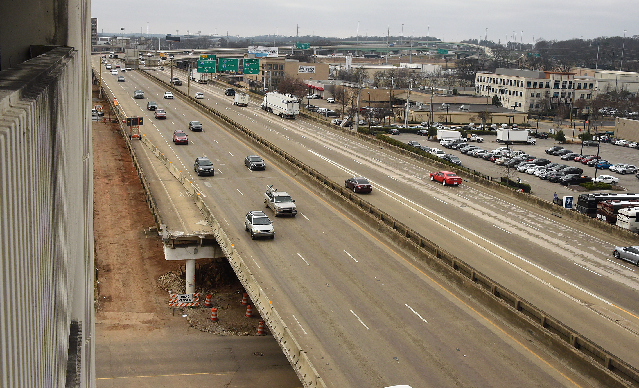 I-59/20 in downtown Birmingham now closed for 14 months - al com