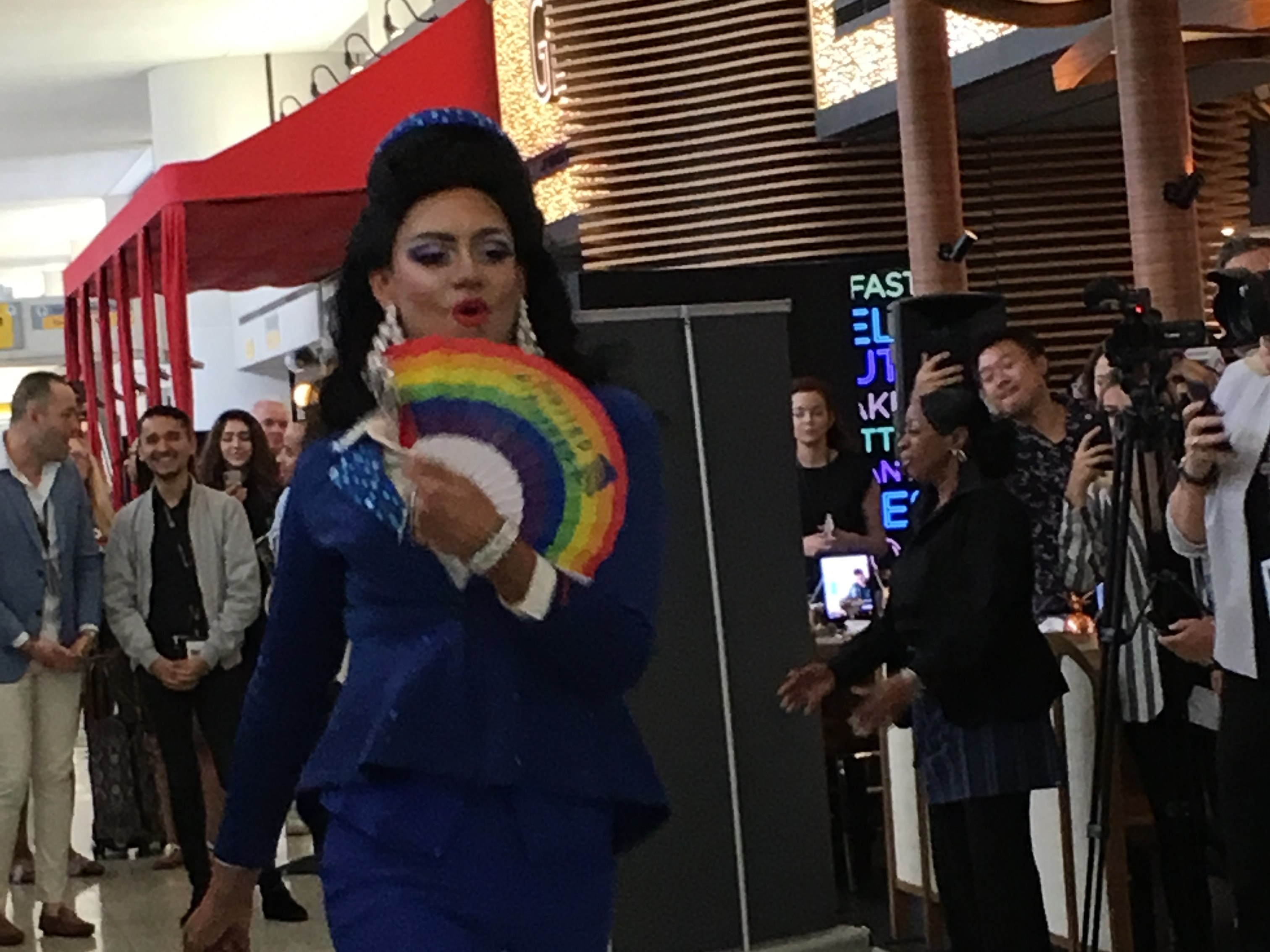 Drag queens, not planes, took over the runway at Newark airport
