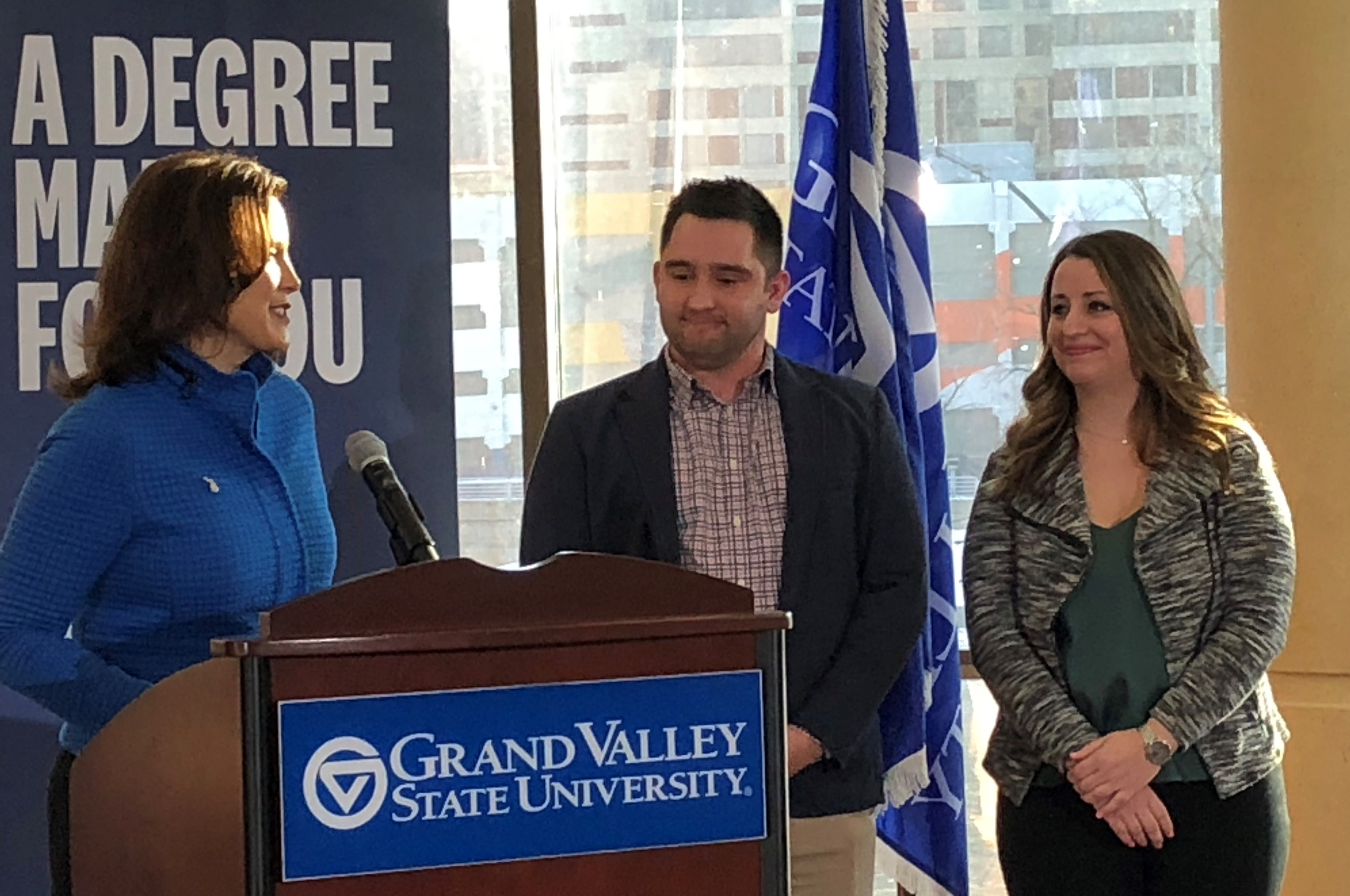 Gov. Whitmer, Grand Valley announce program for adults to get college degree faster