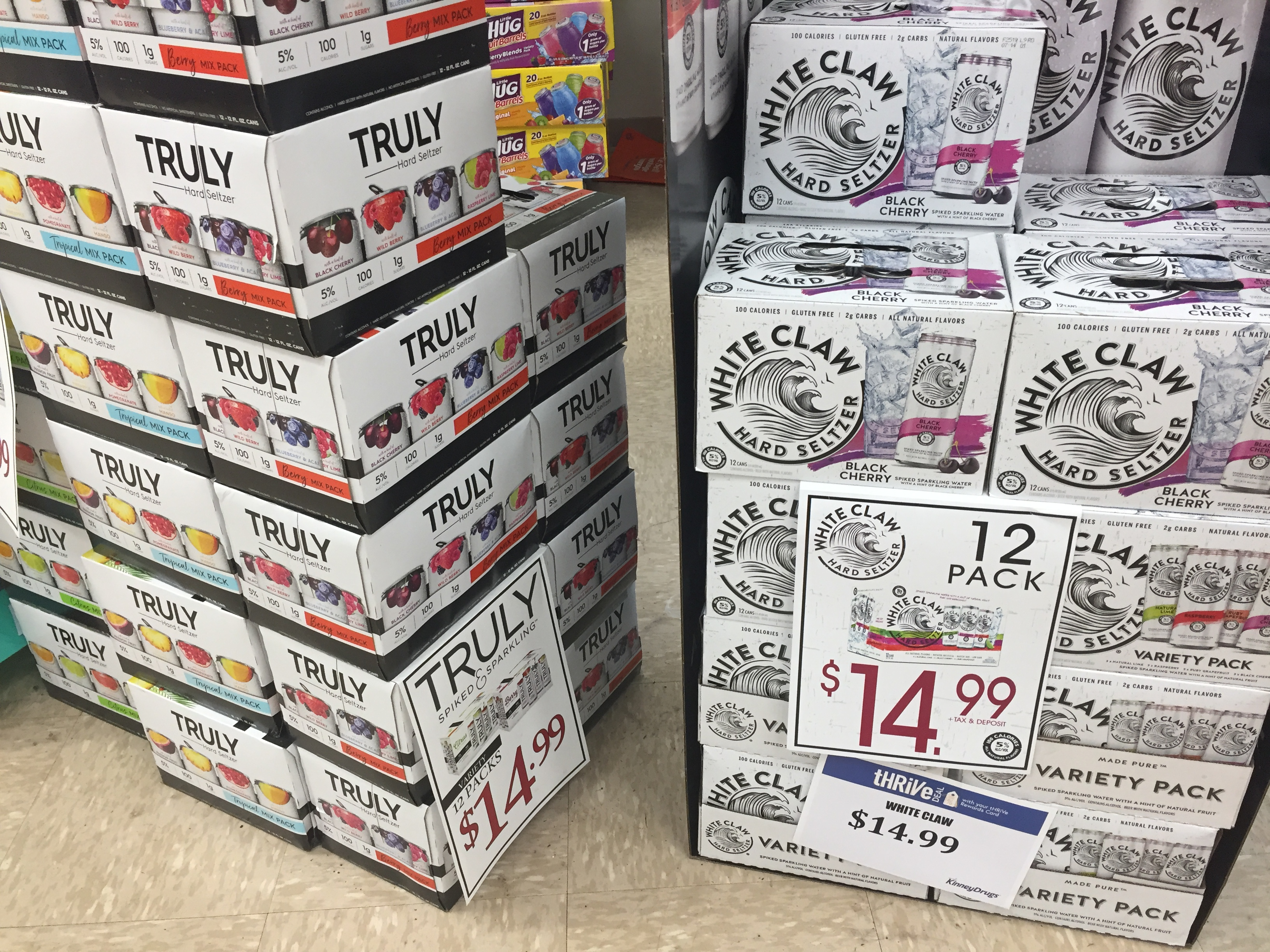 It's just a graphic of Lively White Claw Hard Seltzer Label