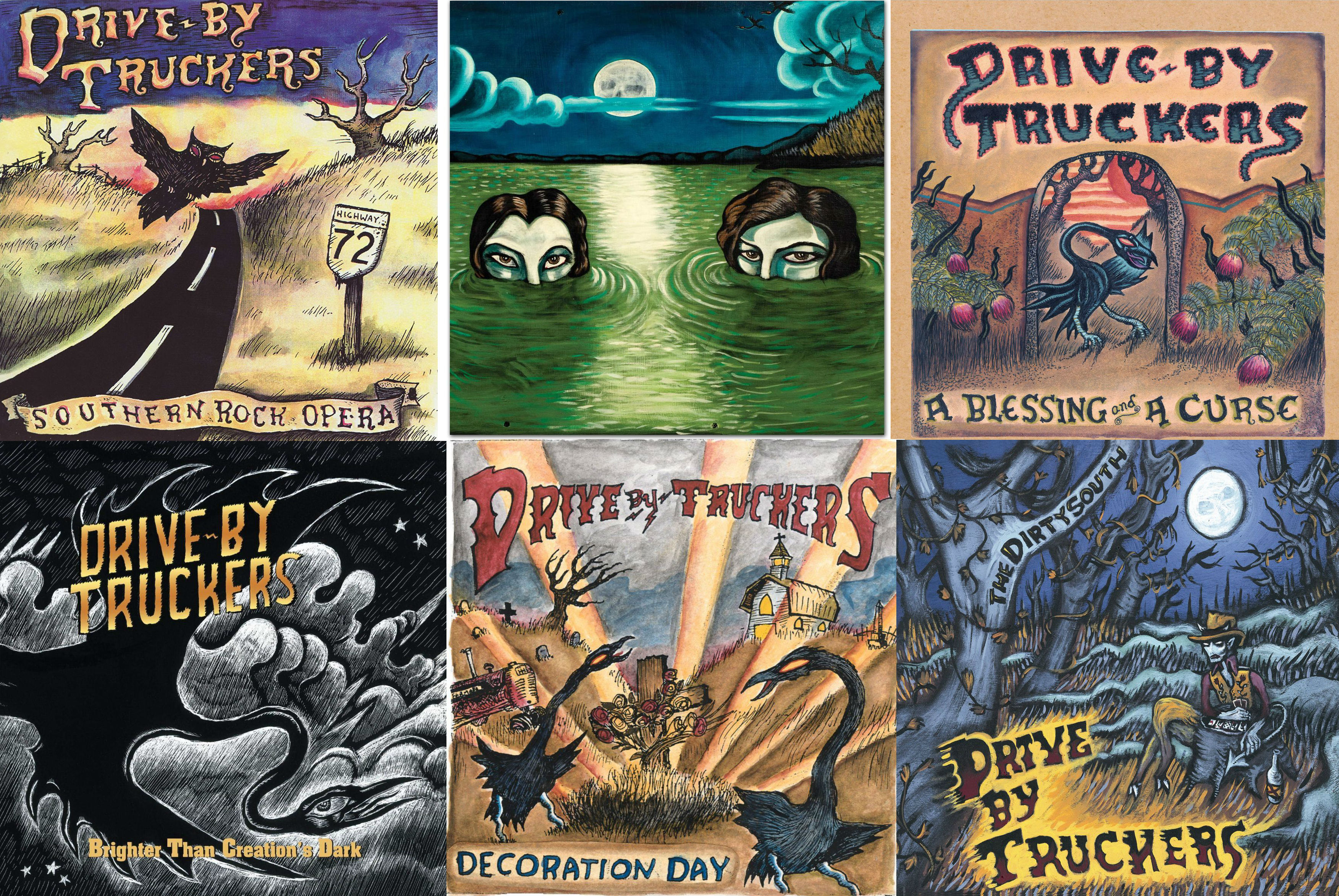 The Secrets Of Drive By Truckers Trippy Album Covers Al Com