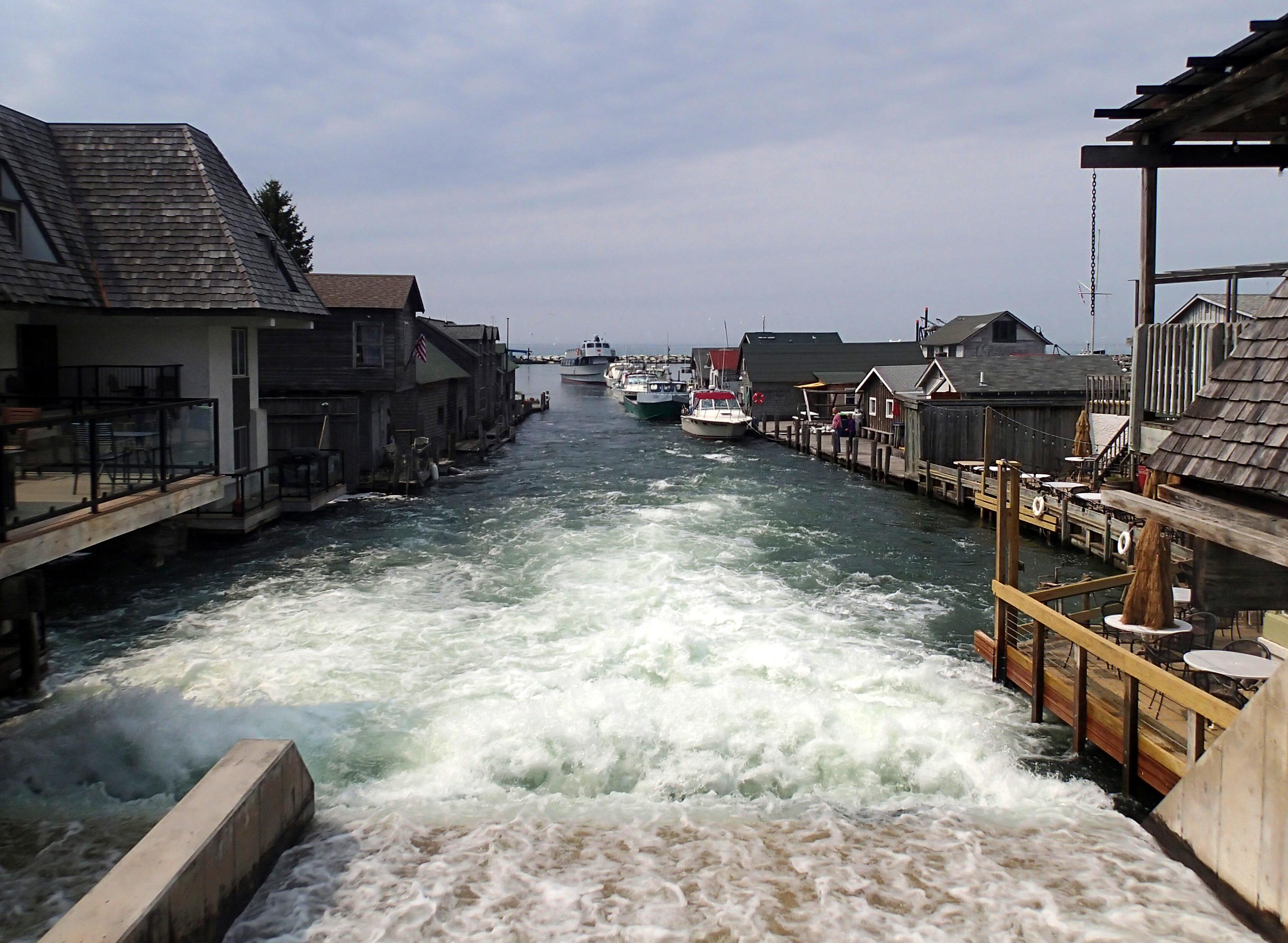 Michigan's historic Fishtown launches fundraiser as rising water threatens shanties