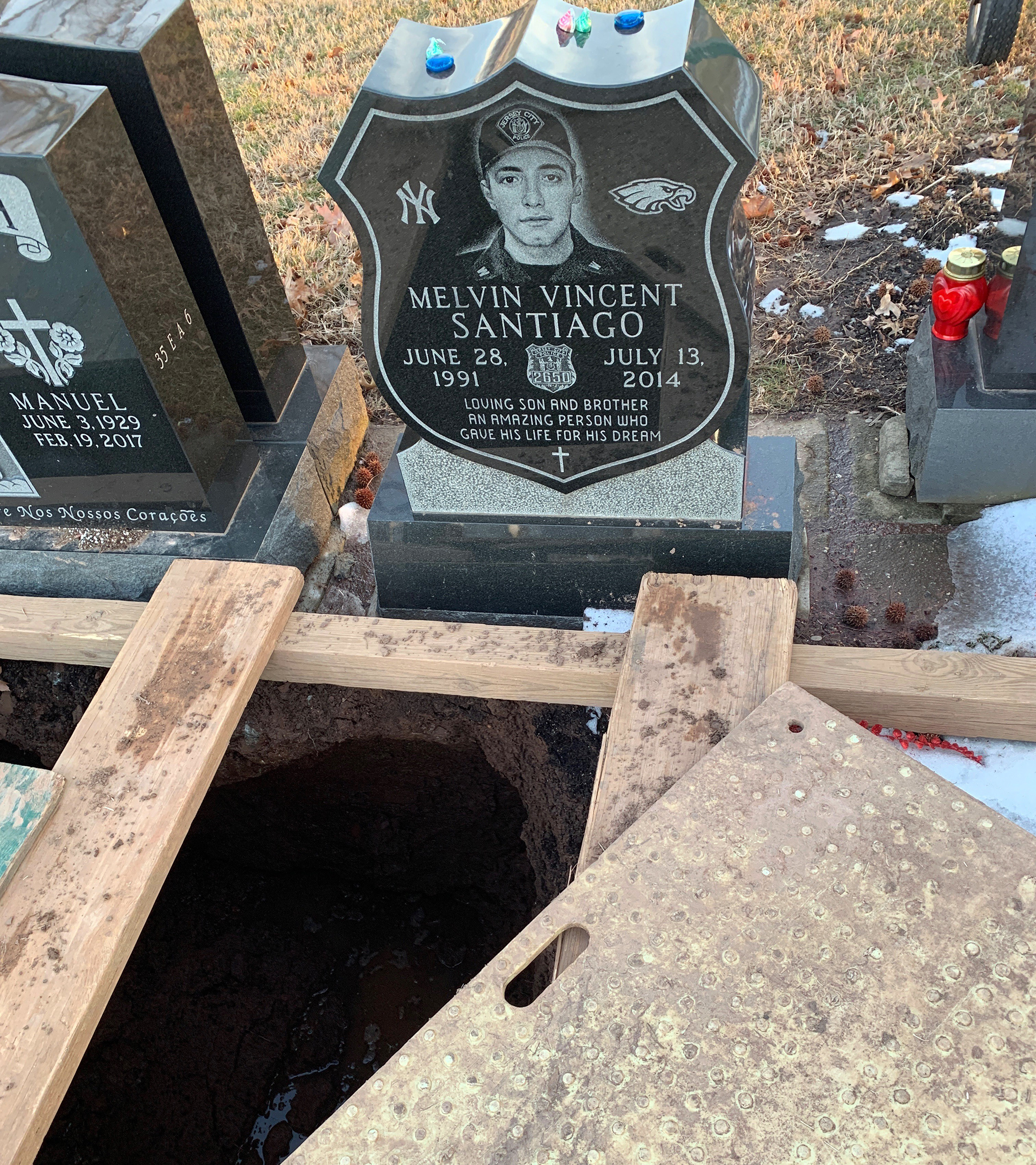 Mom visiting slain Jersey City cop's grave is horrified by what she found