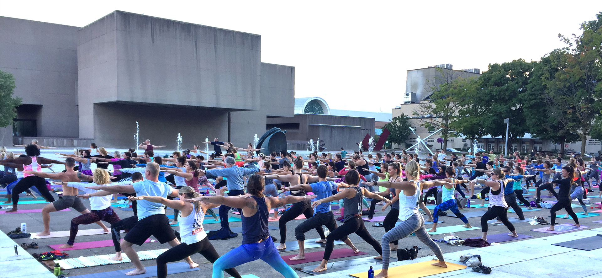 O Yoga on the Everson Community Plaza