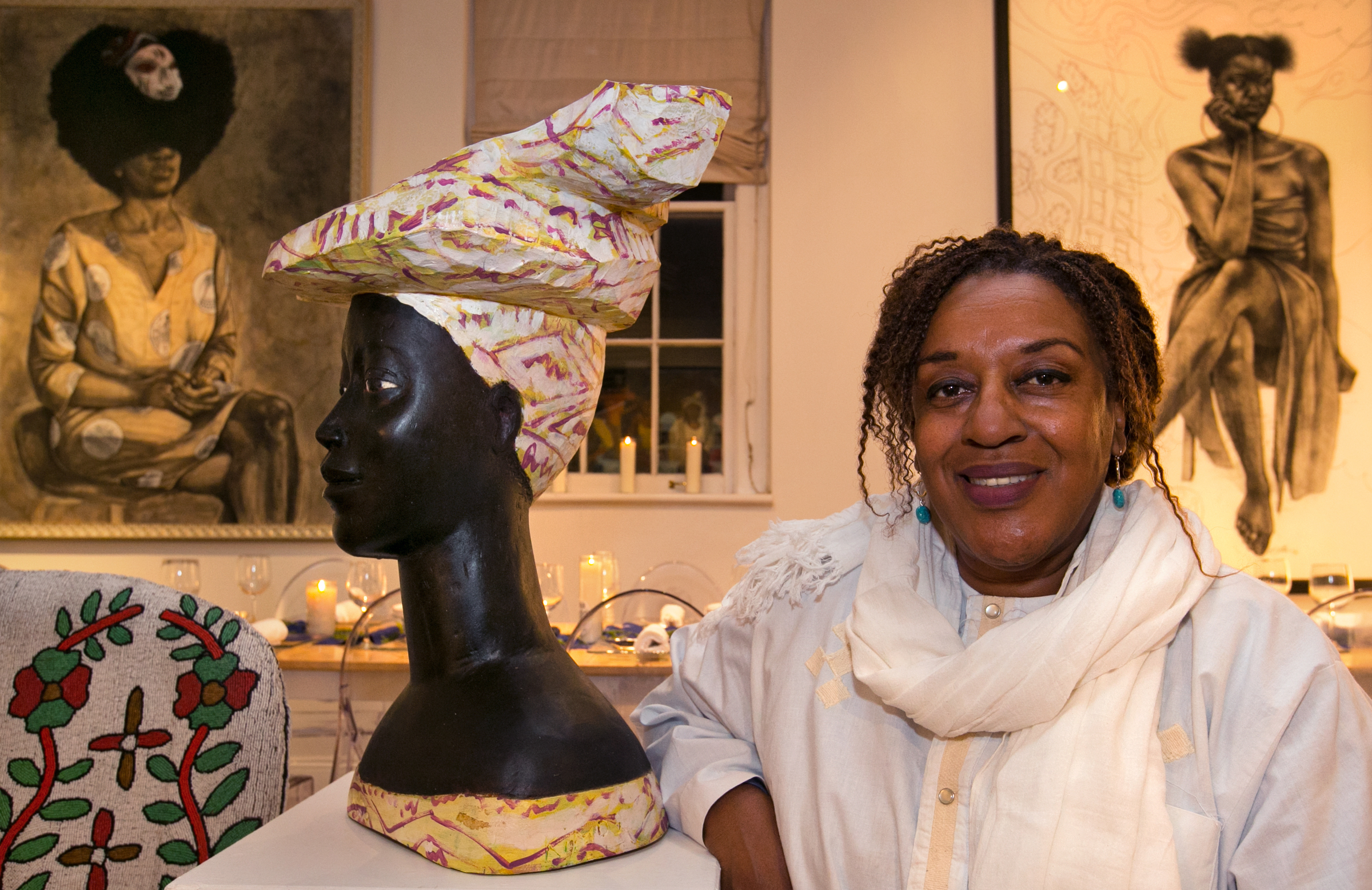 """CCH Pounder, an actress who plays Dr. Loretta Wade on """"NCIS New Orleans"""" shows off her condo and her extensive art collection, Friday, January 20, 2017. (Photo by Ted Jackson, NOLA.com   The Times-Picayune)"""