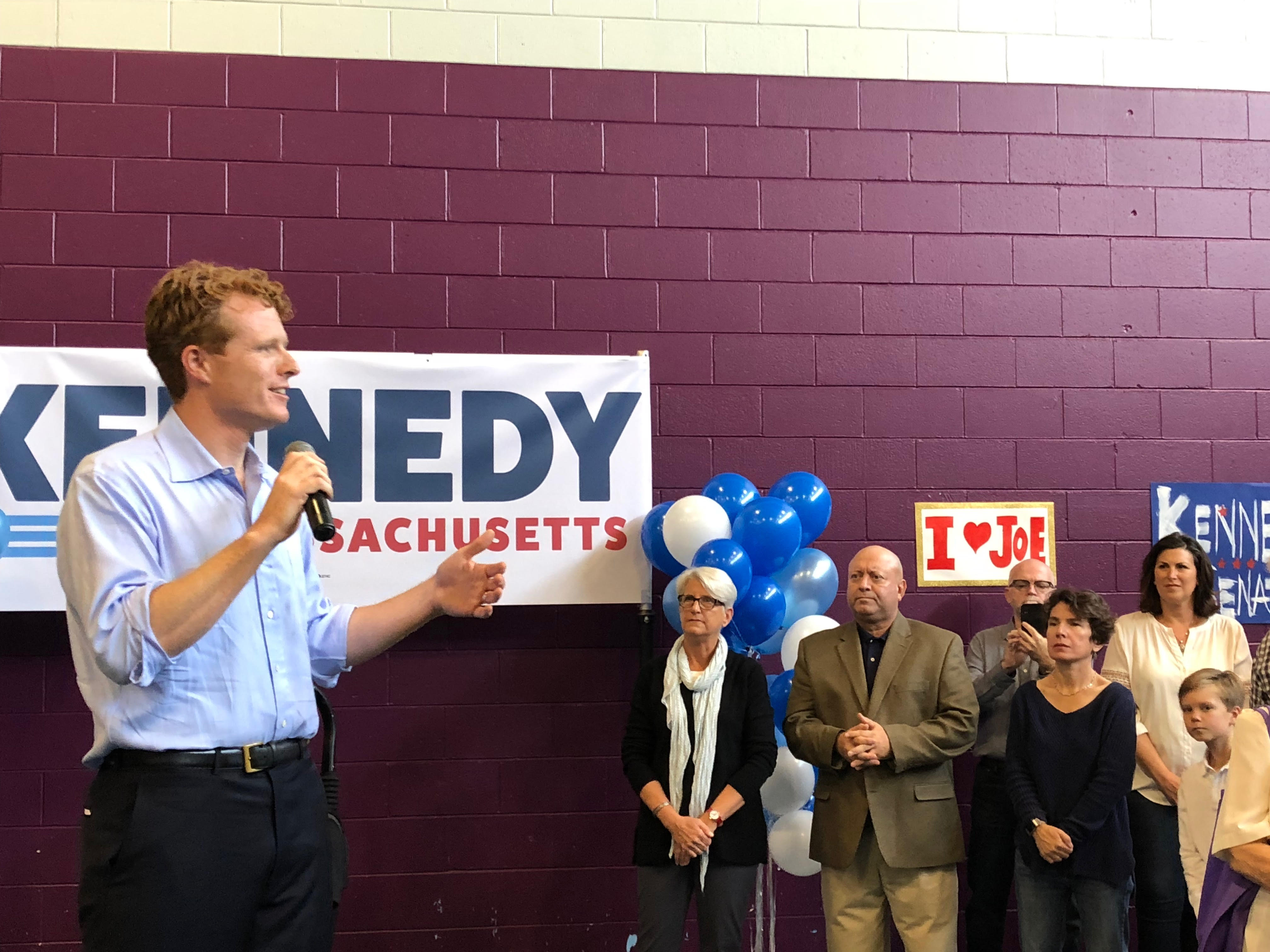 Joe Kennedy, announcing Senate run in East Boston, says challenging Ed Markey comes down to vision, not age