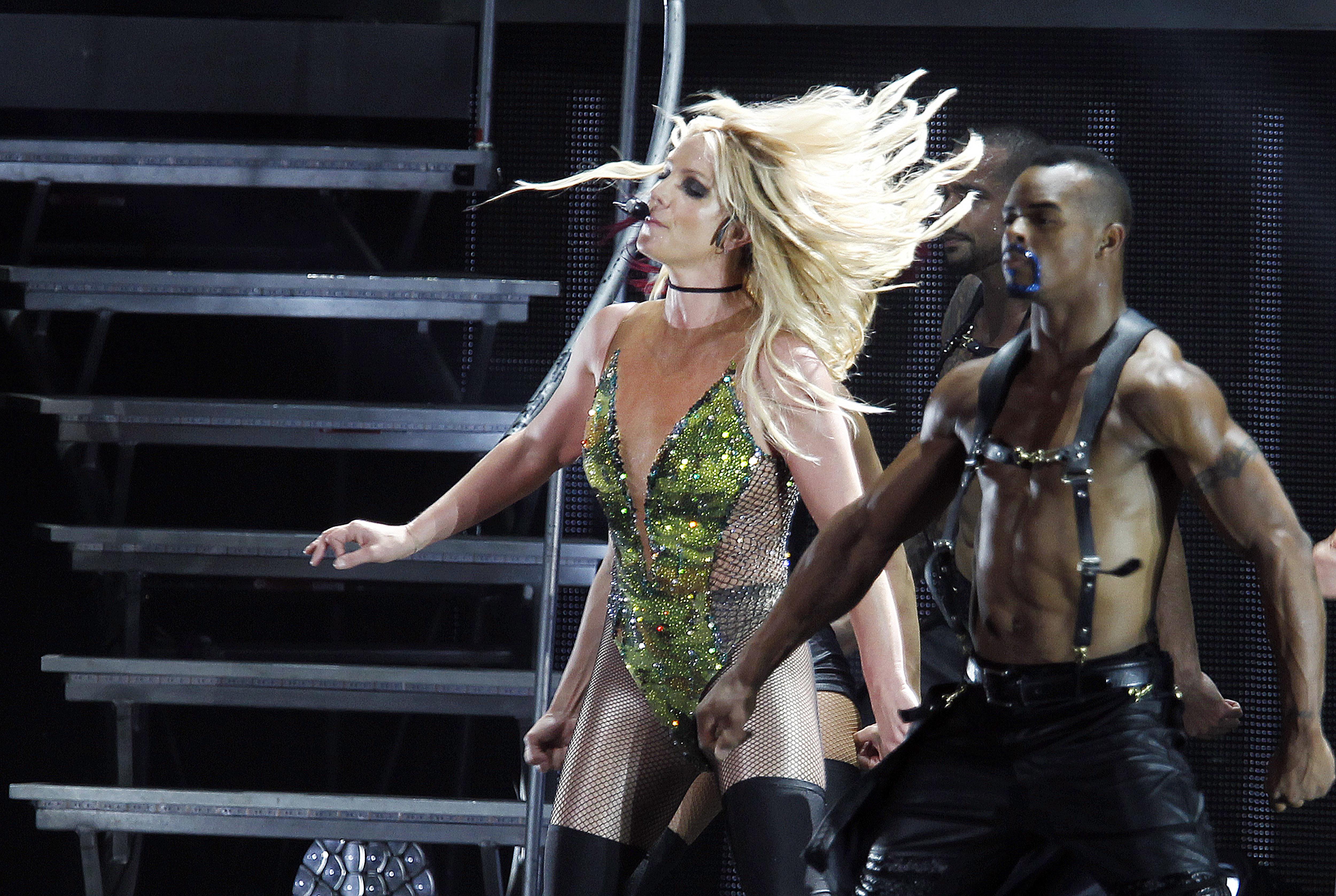 Britney Spears will kick off a series of regularly scheduled shows at Park Theater inside the Park MGM casino-resort on the Las Vegas Strip in Feb. 2019 (AP Photo/Chiang Ying-ying, file)