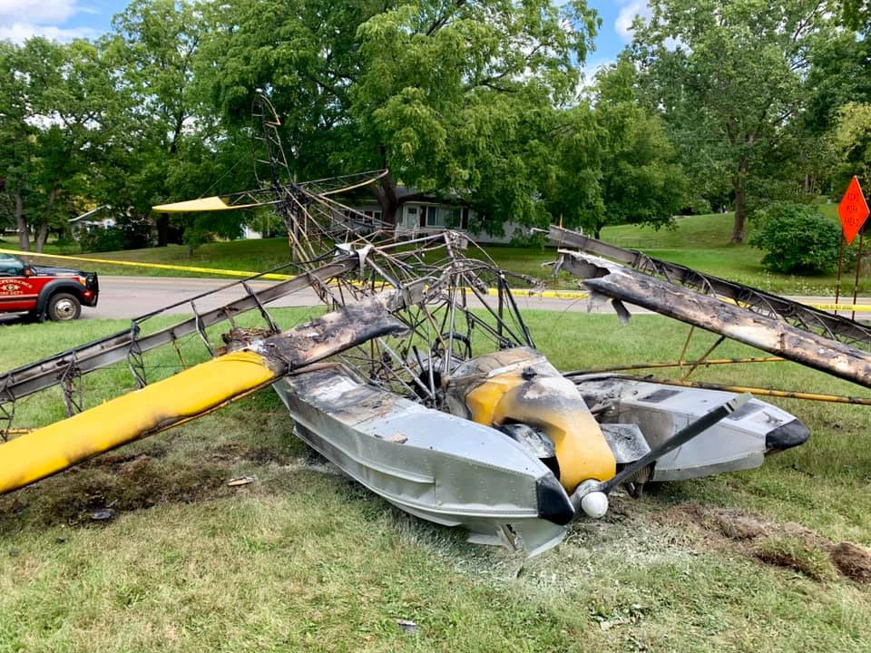 Seaplane crashes into Metro Detroit front yard, catches fire