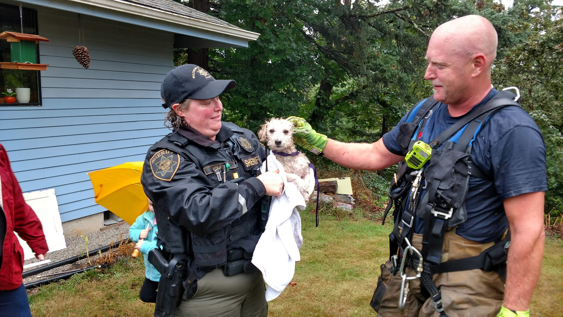 Abandoned dog rescued from cliff in Troutdale