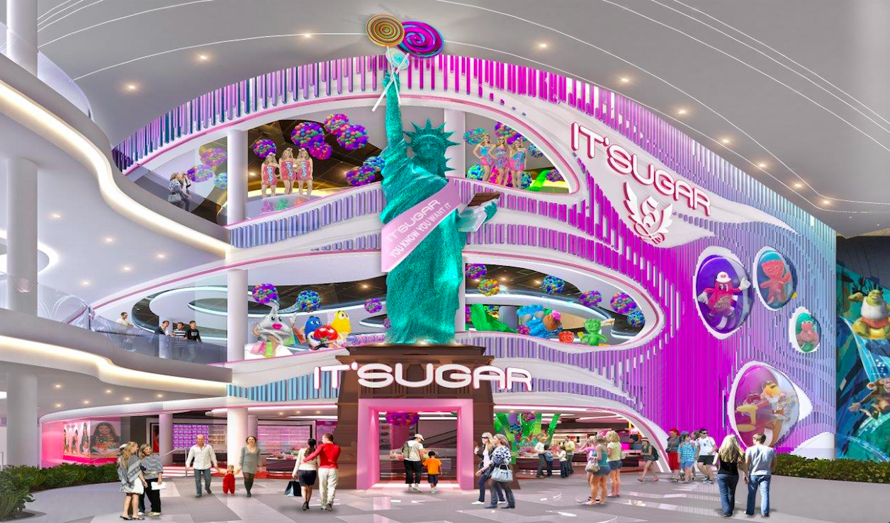 American Dream mall's candy department store just missed its 2nd opening day