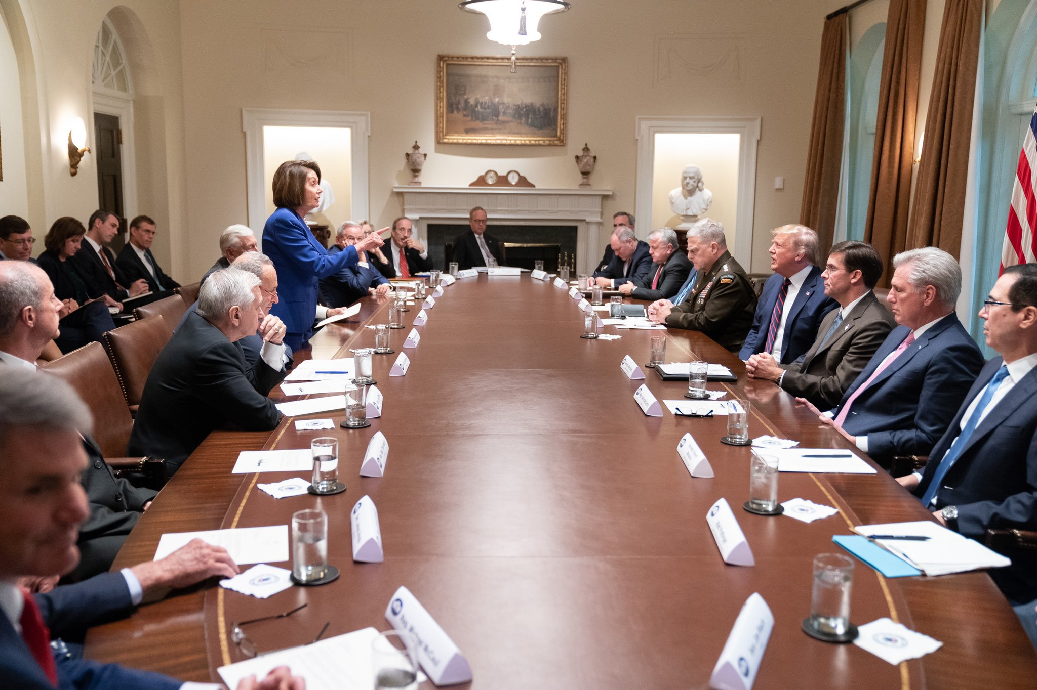 Menendez was in the room when Trump mocked Pelosi and Dems walked out. Here's what he saw.