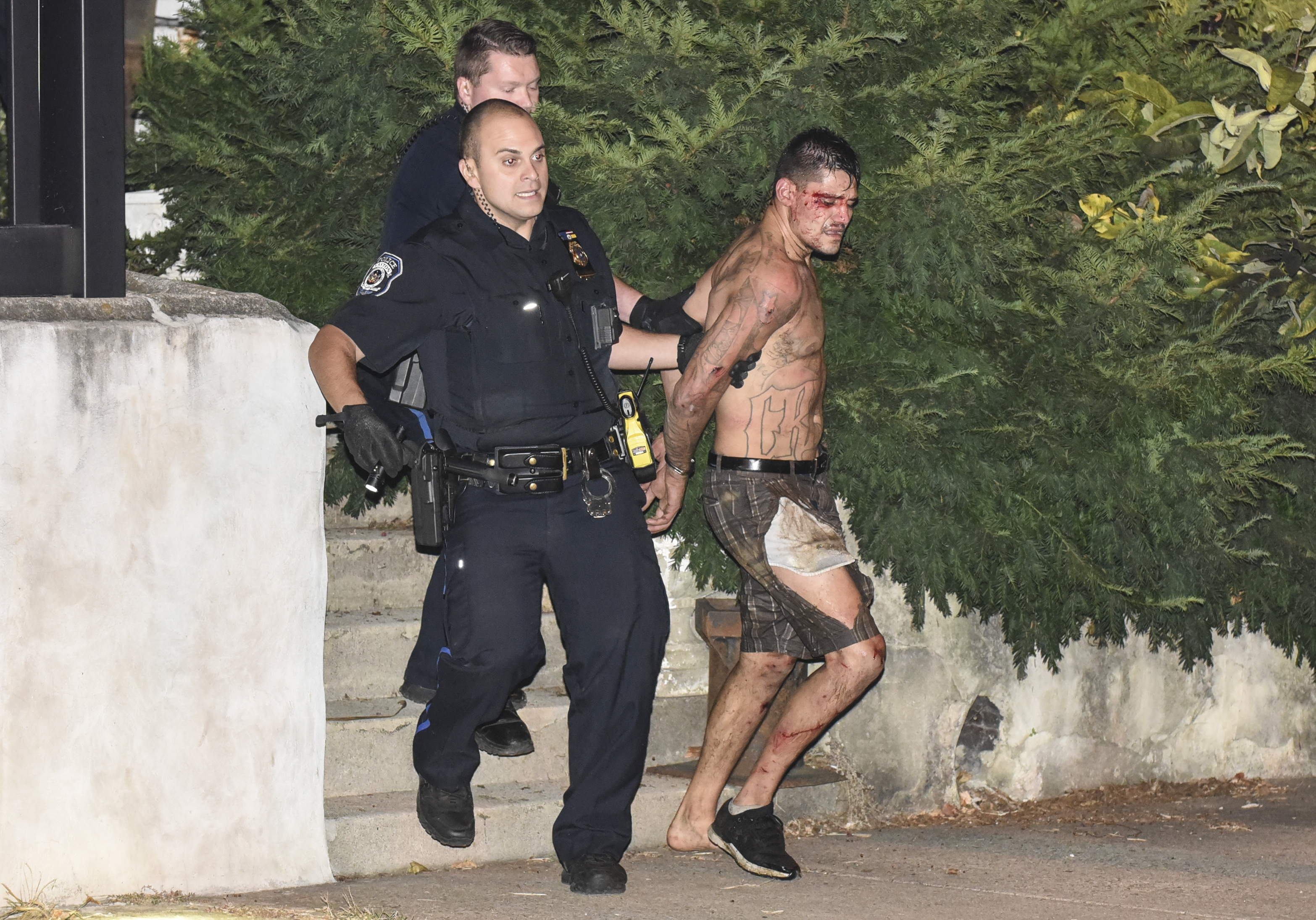 A midnight chase through backyards ends with Pa. officer hurt and suspect in custody