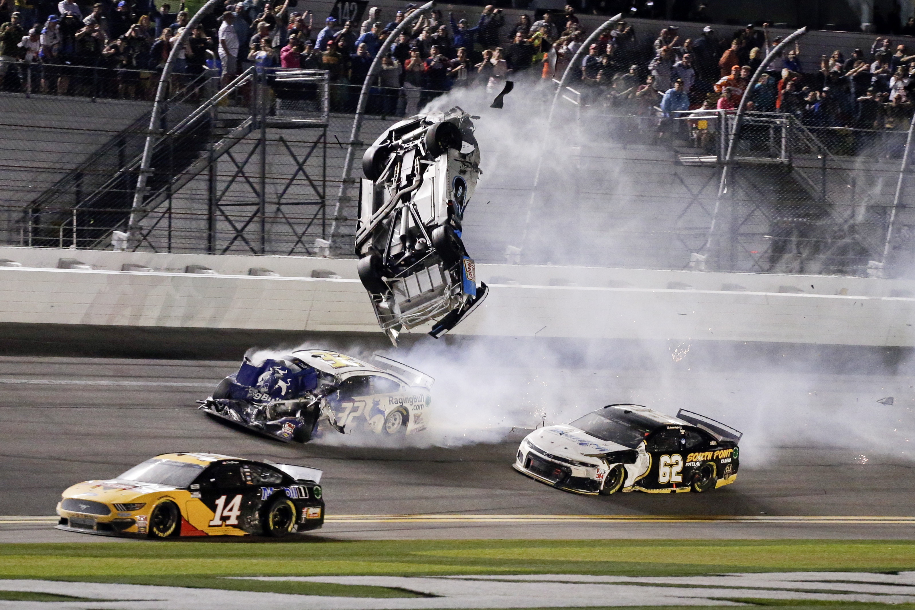 Daytona 500: Ryan Newman's latest terrifying crash sends him to hospital, where he's in serious condition