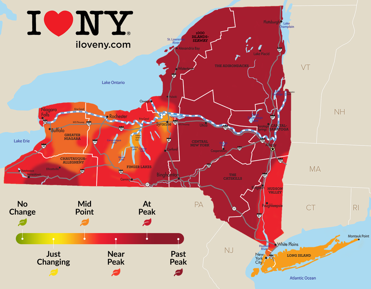 Upstate NY fall foliage 2019: Best bets in Western NY, Finger Lakes, Hudson Valley regions