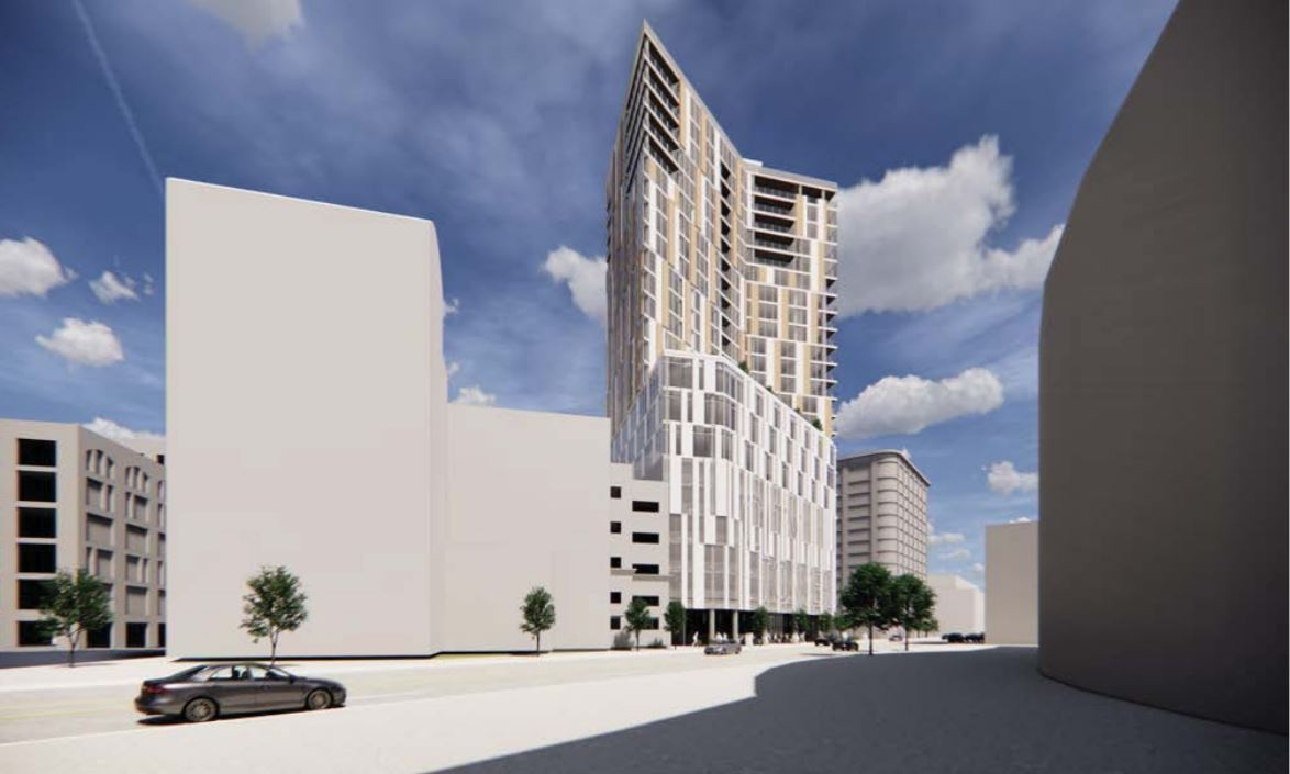 24-story, mixed-use building proposed for downtown Grand Rapids