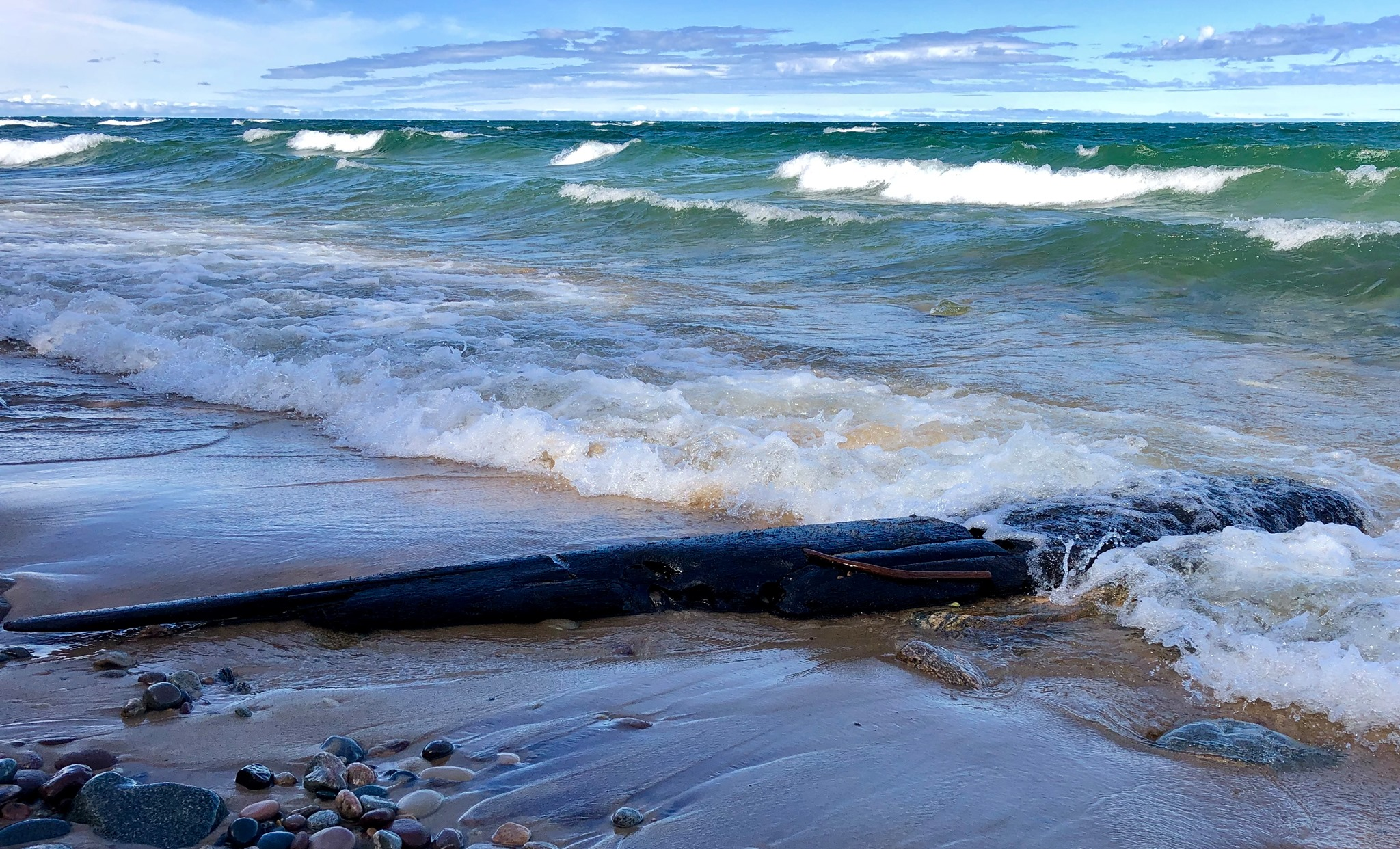 Shipwreck piece from Lake Superior washes up on Pictured Rocks beach
