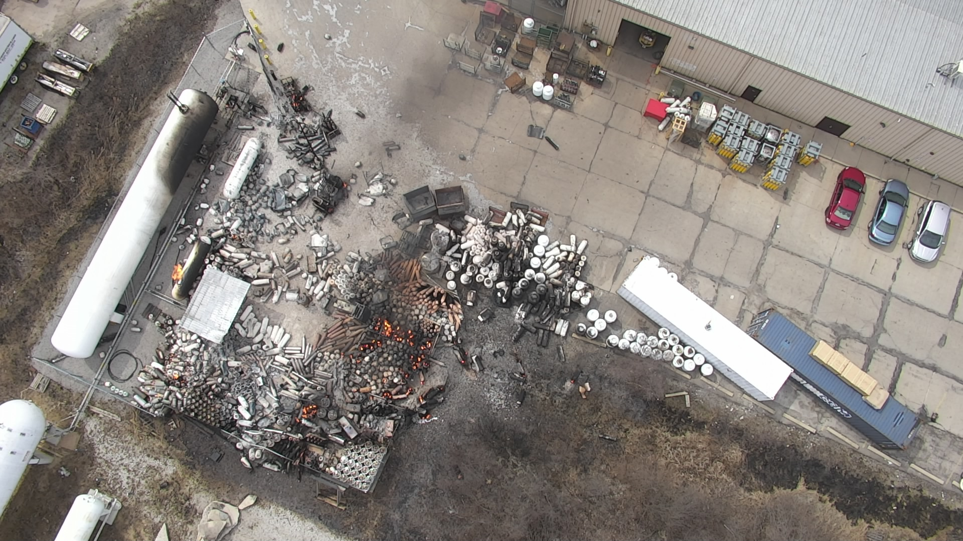 How a $30,000 drone kept firefighters safe during explosive welding company fire
