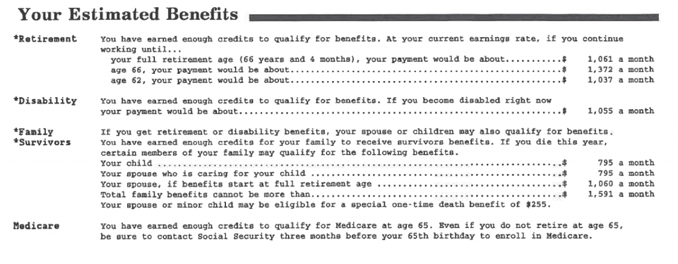 Is Social Security giving out wrong benefits estimates?  Yes, one economist says.