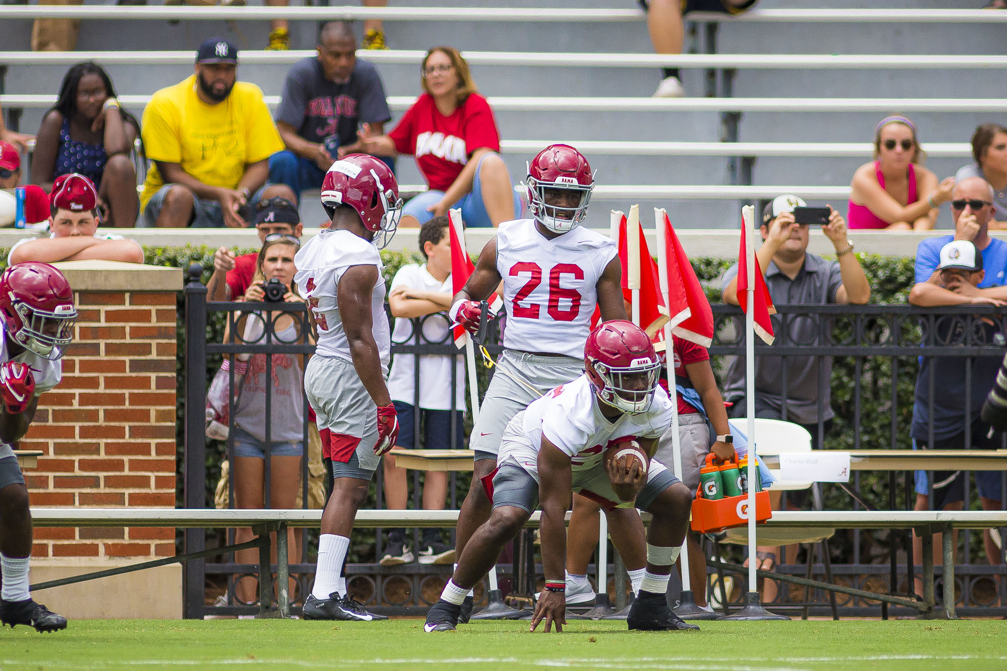 Alabama practice report: Top freshman RB not spotted