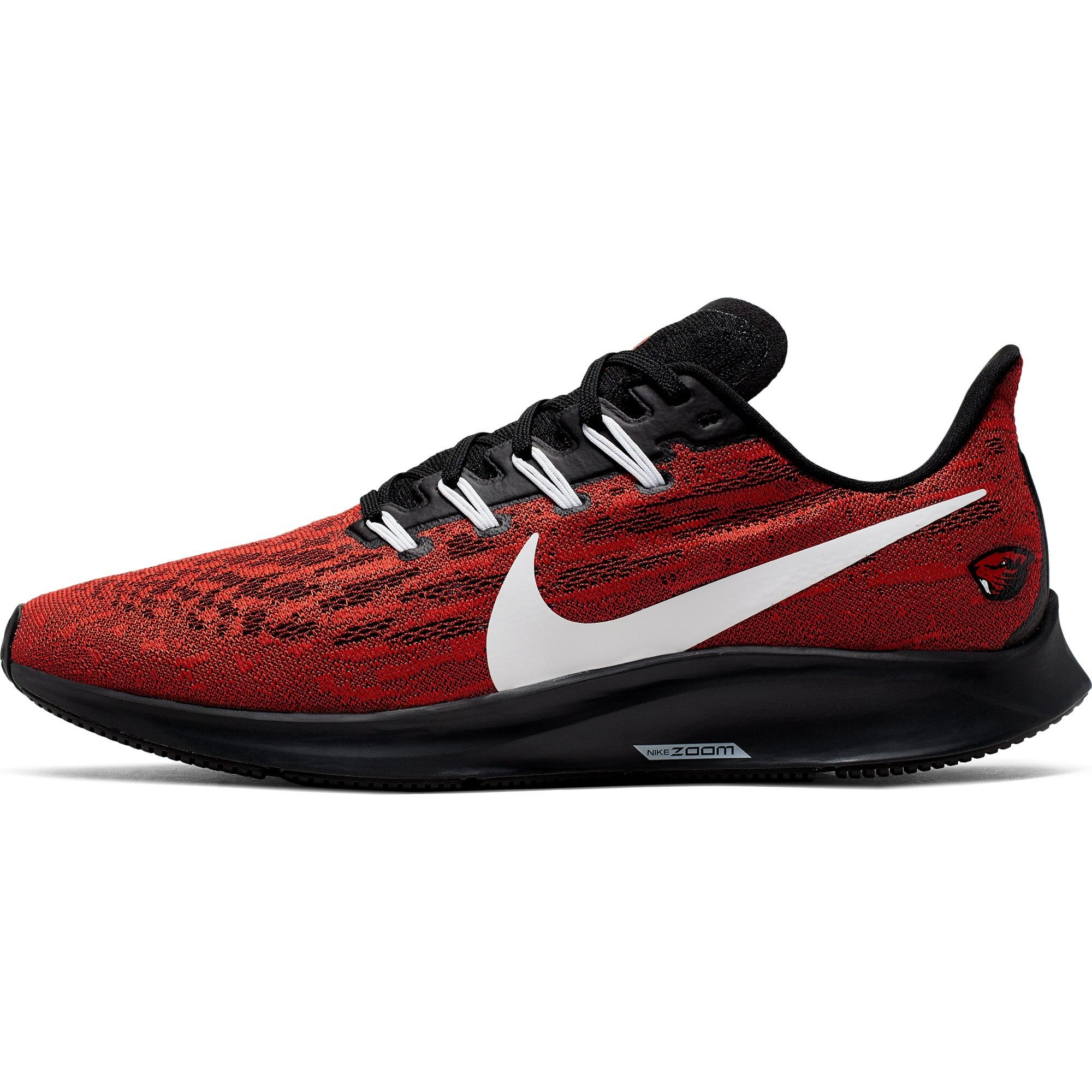 Oregon State Beavers Nike Air Zoom Pegasus 36 Running Shoes - Orange/White