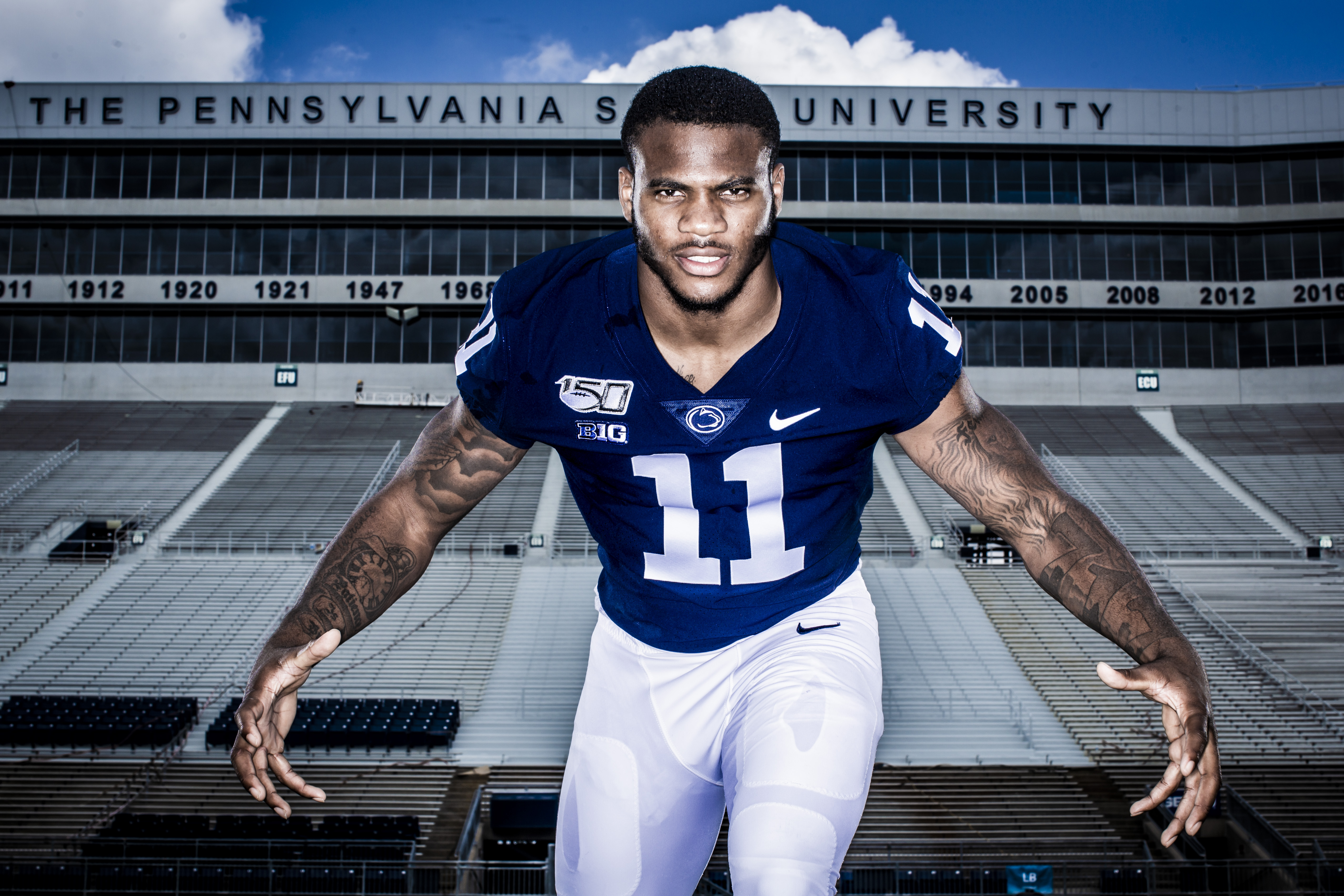 See some of the stars of Penn State's defense like never before in these special pictures and facts