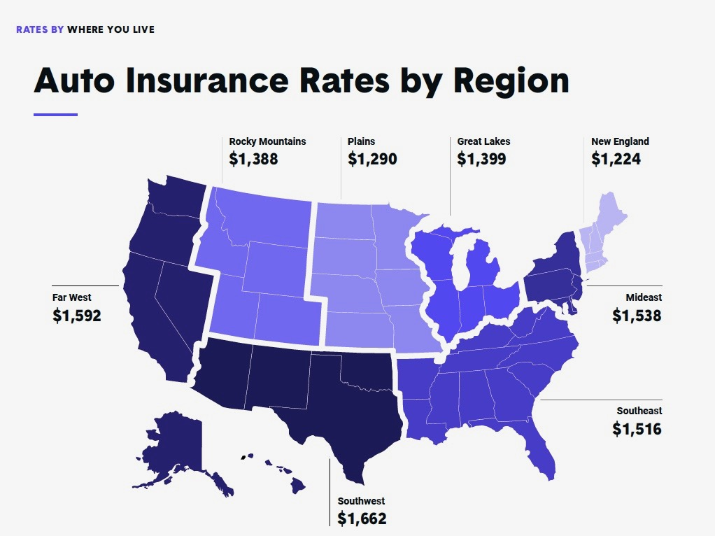How much does car insurance cost? Moving a county away can save (or cost) you hundreds a year
