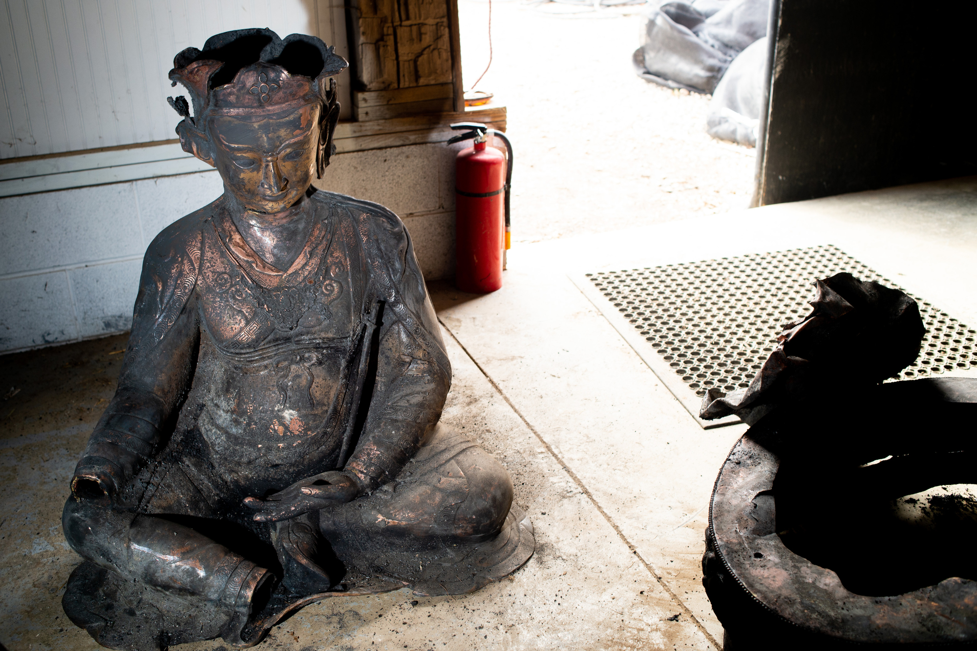 Buddhist community that lost temple to barn fire vows to rebuild