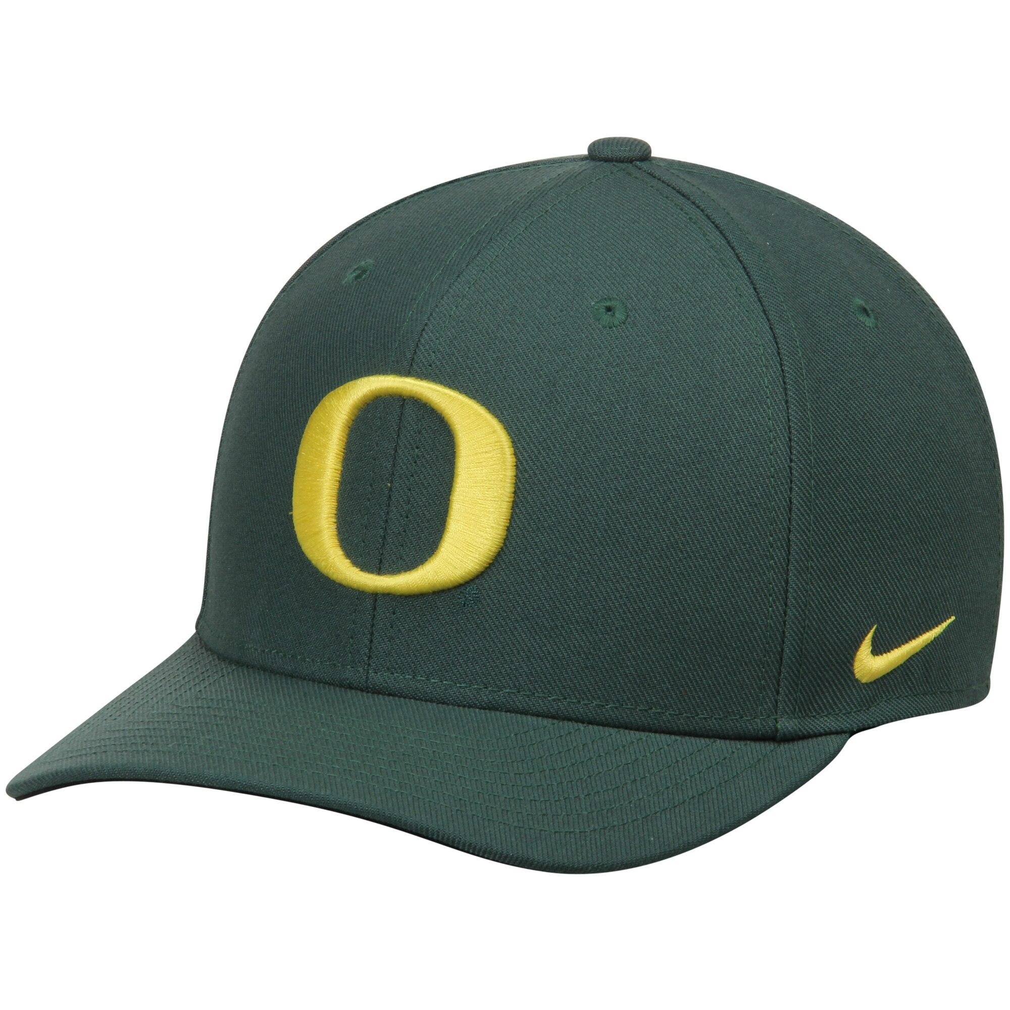 Oregon Ducks Nike Wool Classic Performance Adjustable Hat - Green