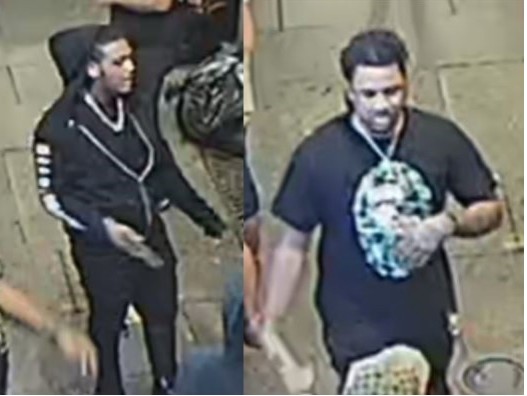 New Orleans police released these photos Saturday in an attempt to find two men after a fatal shooting in the 100 block of Carondelet Street.