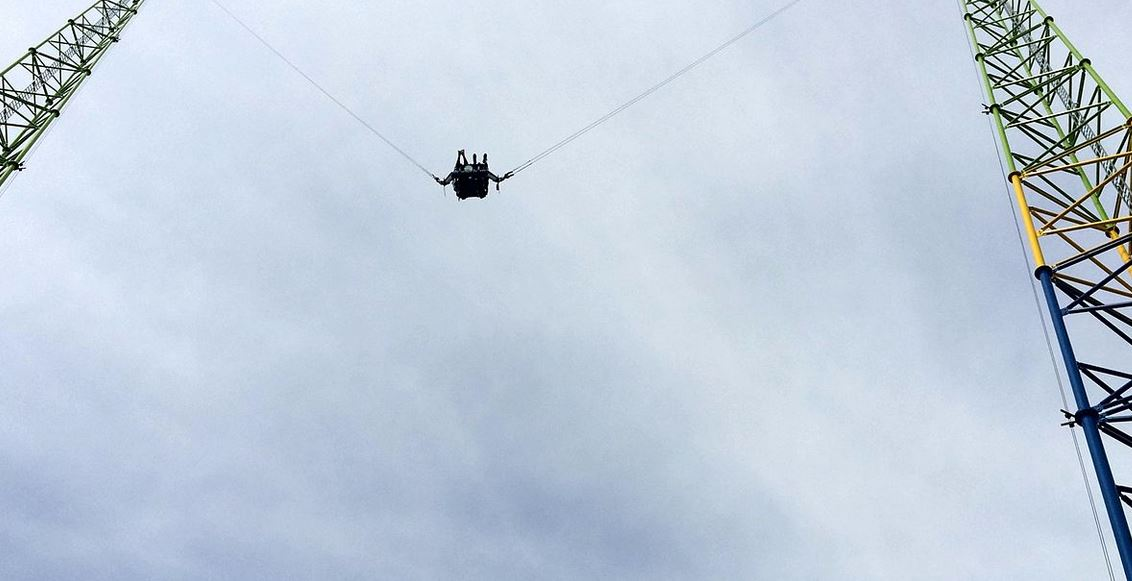 Watch moment cable snapped on Panama City Beach slingshot ride