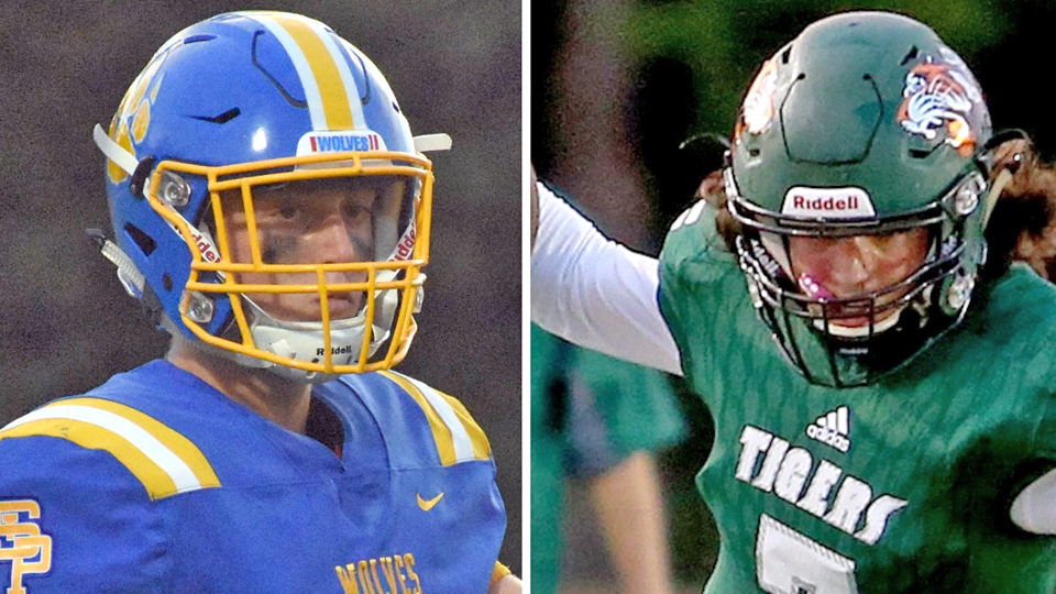 Quarterbacks Jack Mashburn of St. Paul's (left) and Slidell's Jacob Guidry go head to head on Friday in what all essence is for the District 6-5A championship on Friday, Oct. 19, 2018, at LV McGinty Stadium in Slidell.