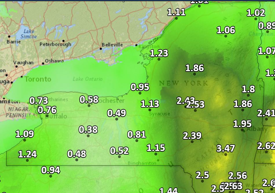 Season's first nor'easter will bring drenching rain, high winds to Upstate NY