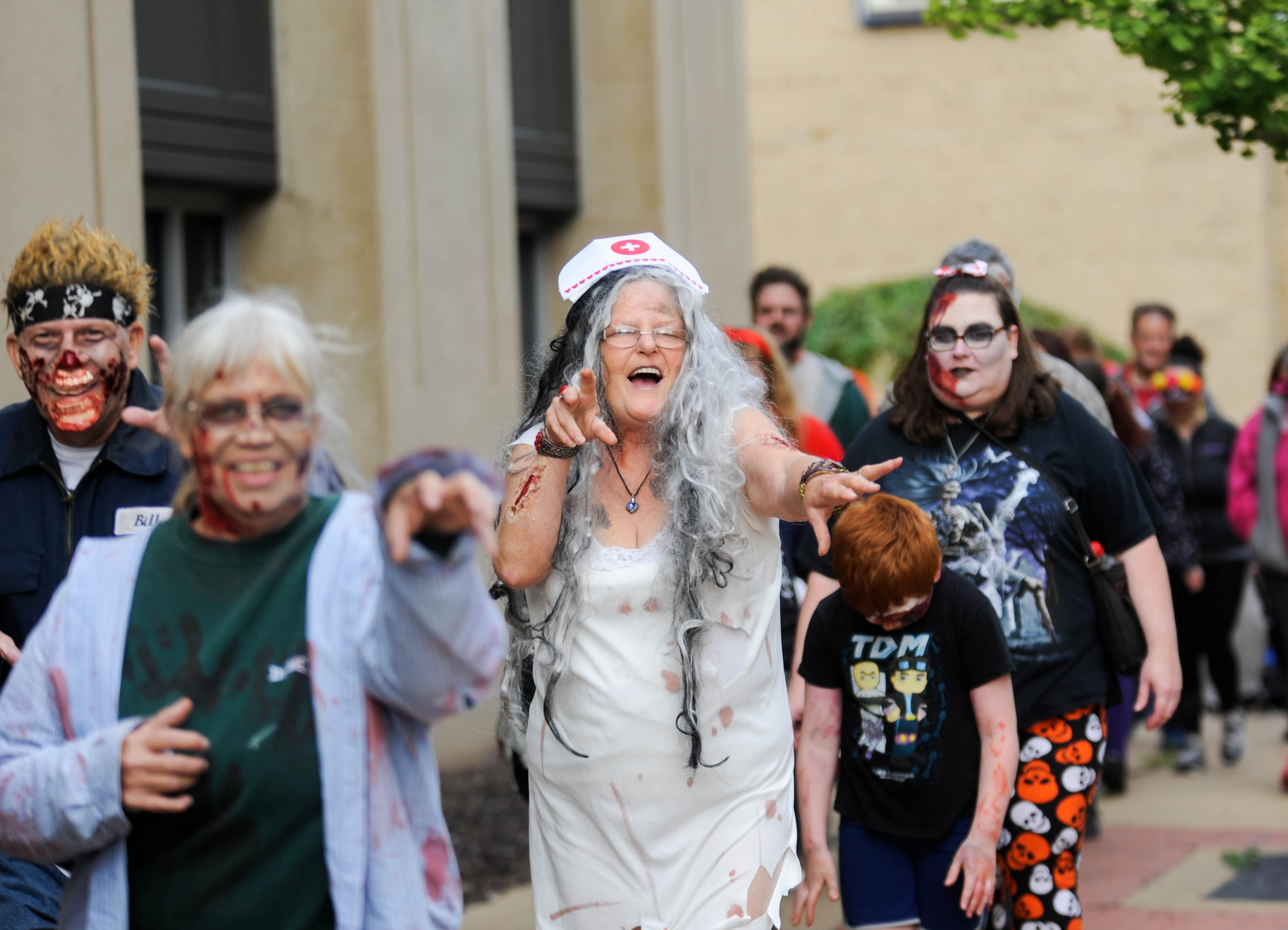 Zombies take over Jackson during annual walk
