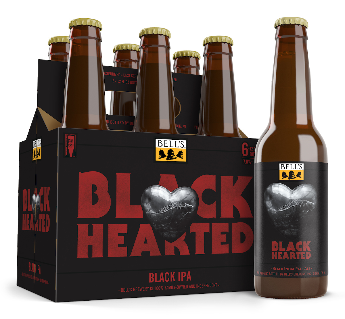 Bell's offers Black Hearted IPA to the broken-hearted on Valentine's Day