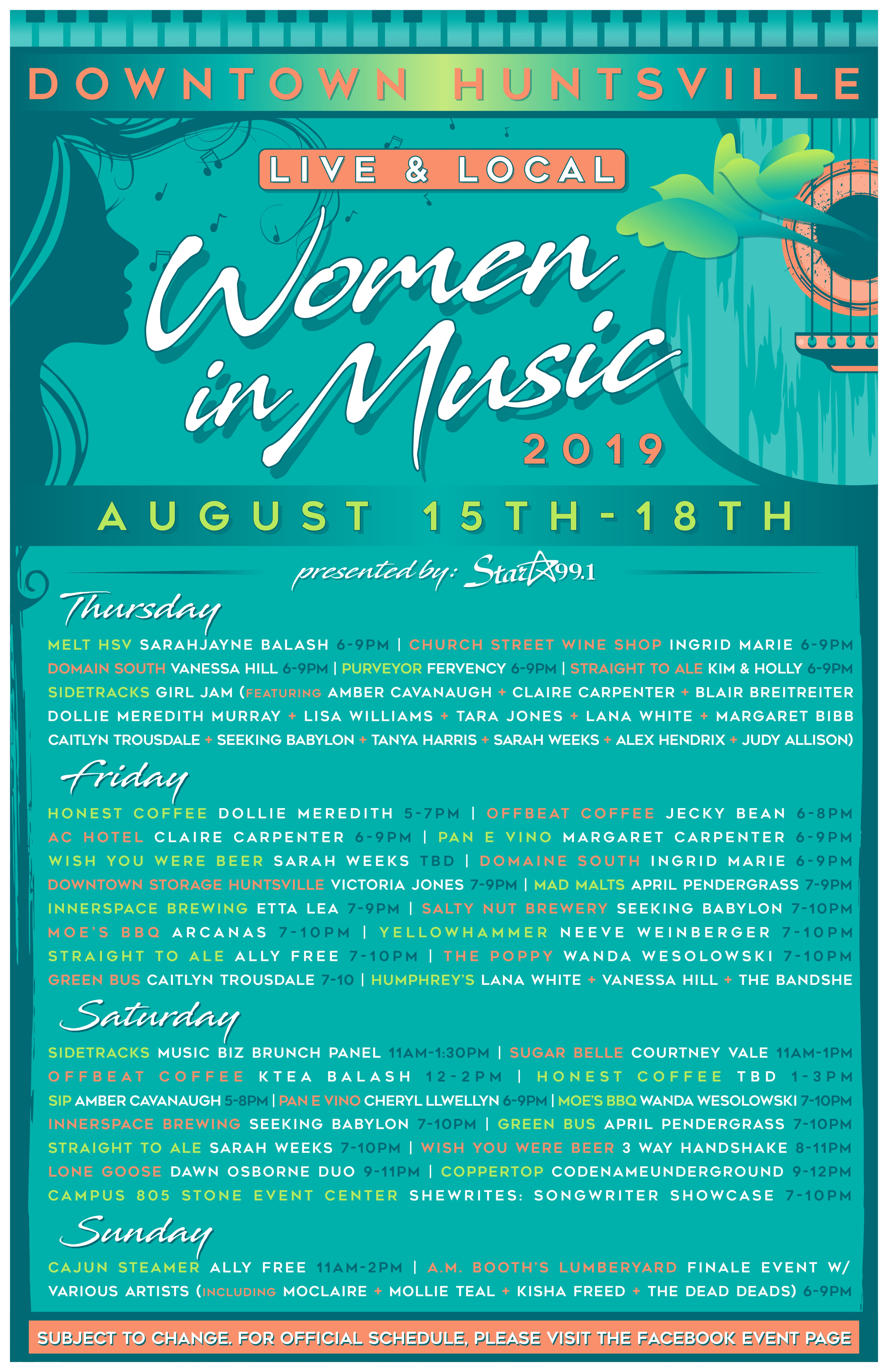 Women In Music Weekend lifting local Alabama voices - al com