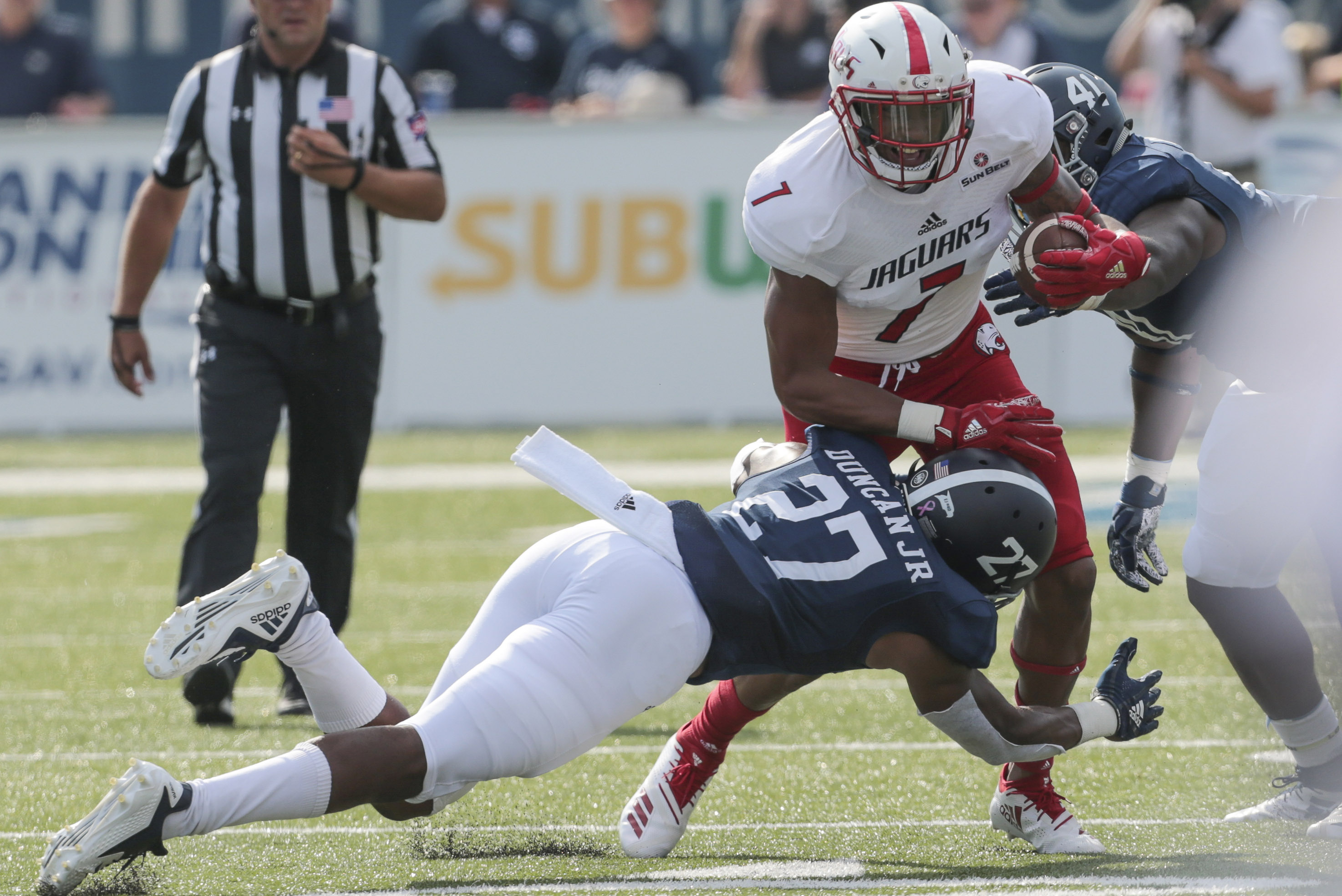 Malik Stanley scored one of South Alabama's two touchdowns in last season's win over Troy. (Bobby McDuffie, South Alabama Strategic Communications)