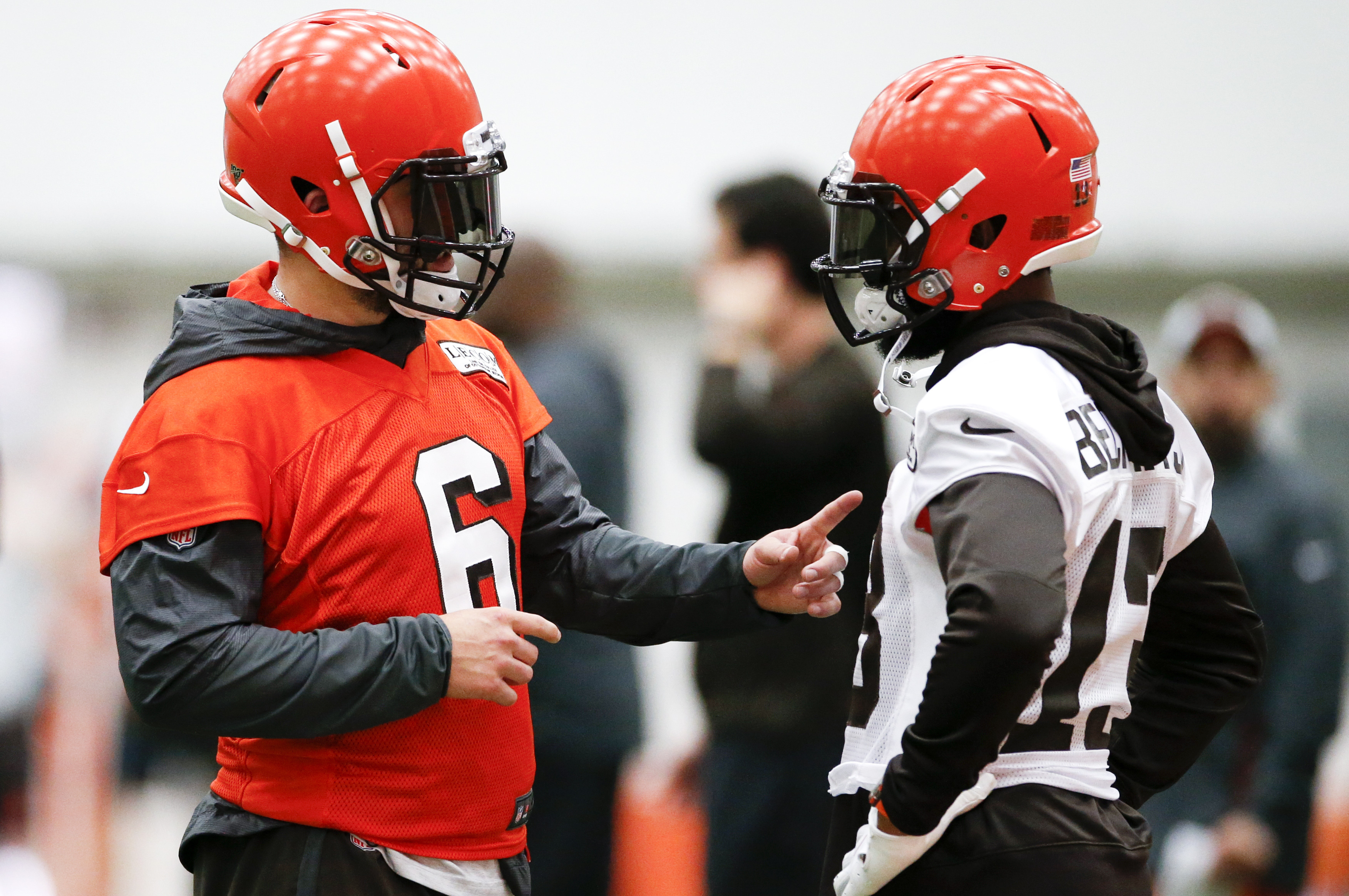 56270b78d5a Browns' Odell Beckham, Baker Mayfield already having problems on offense in  Cleveland?