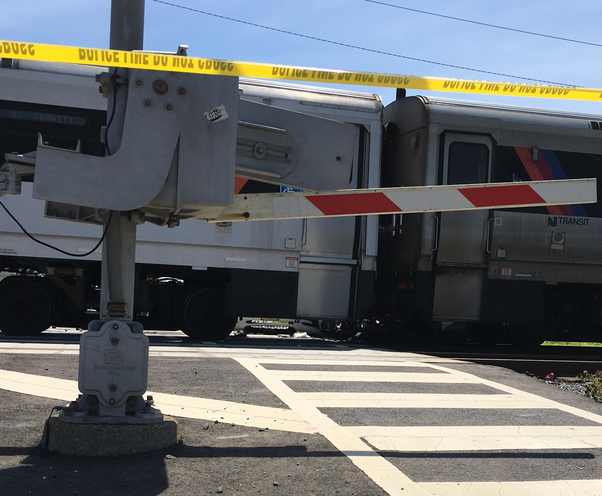 NJ Transit train hits police SUV, causing delays on North Jersey Coast Line