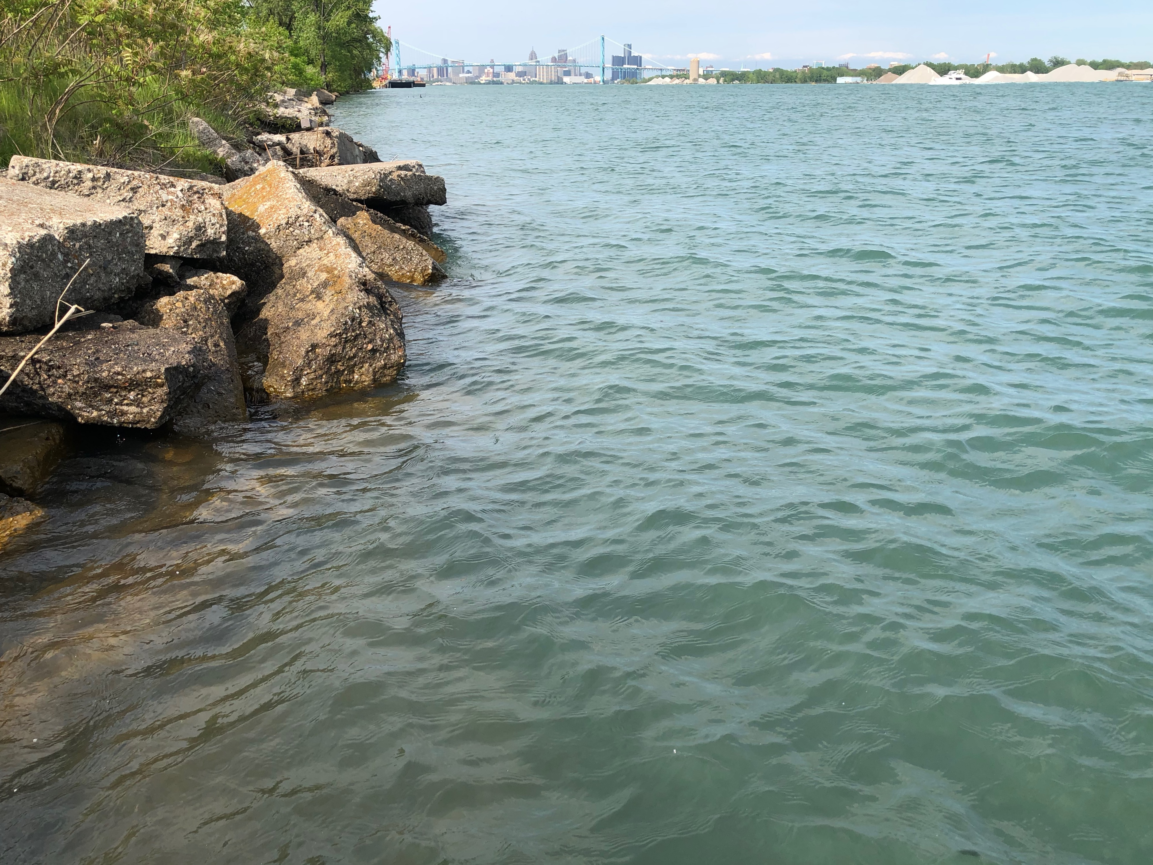 Property contaminated with uranium, used during WWII collapses into Detroit River