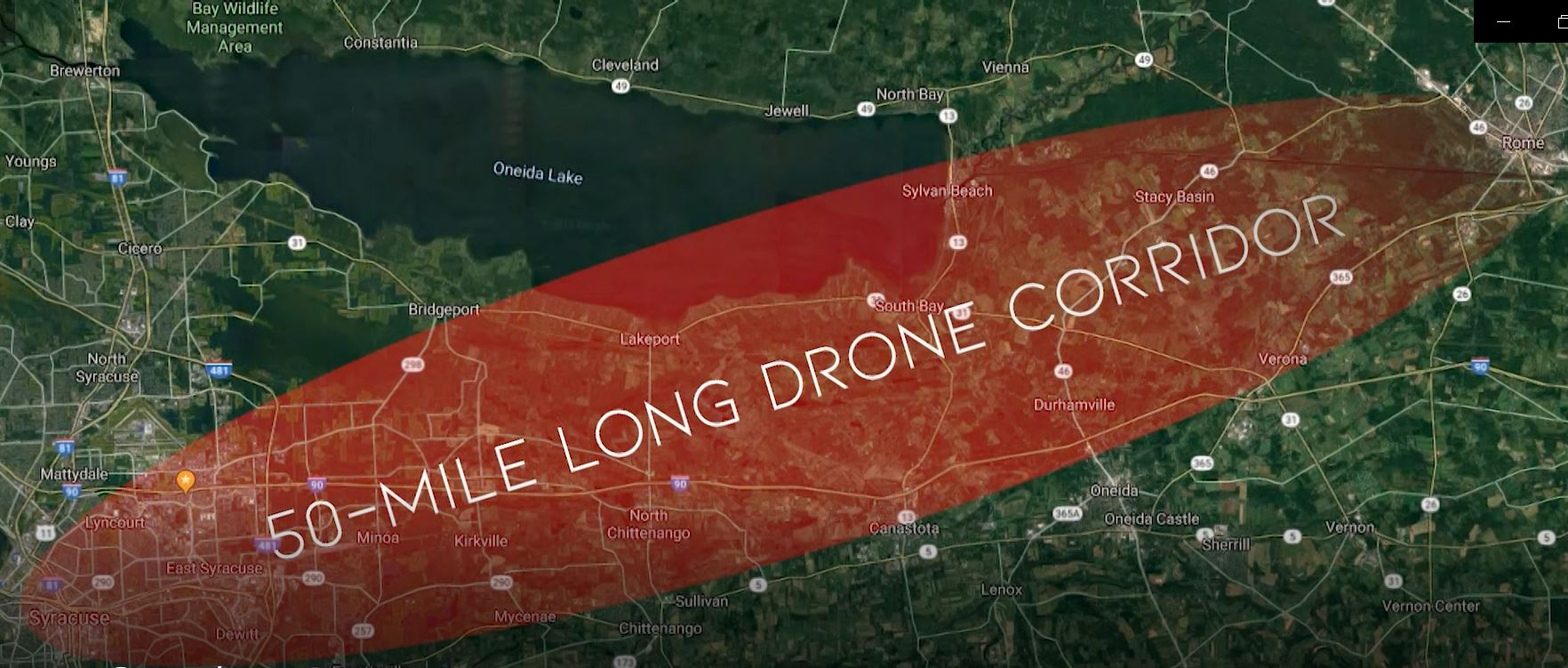 Drones over Central NY: 50-mile test corridor to open for business soon (map)