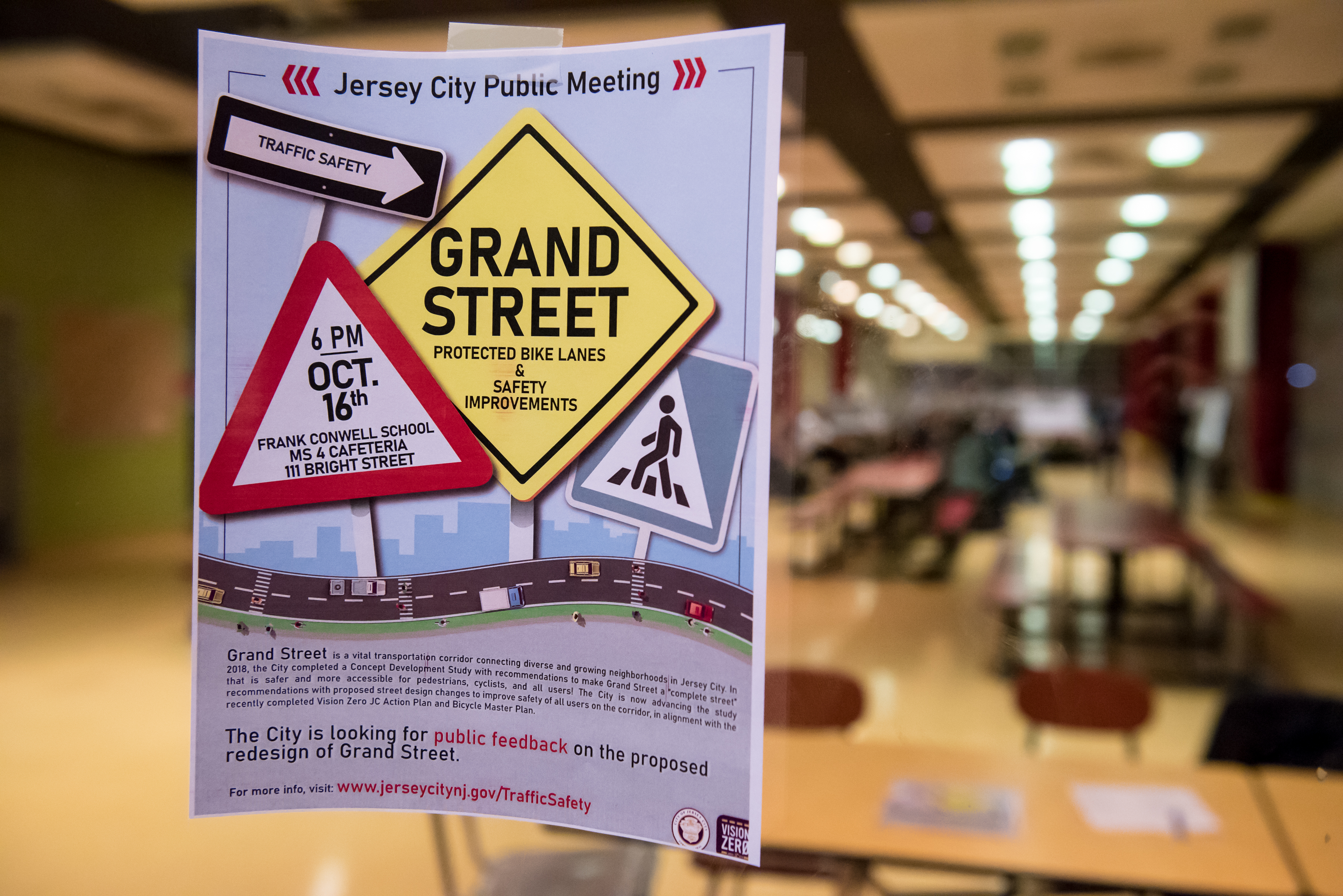 Jersey City unveils plans for protected bike lanes on Grand Street