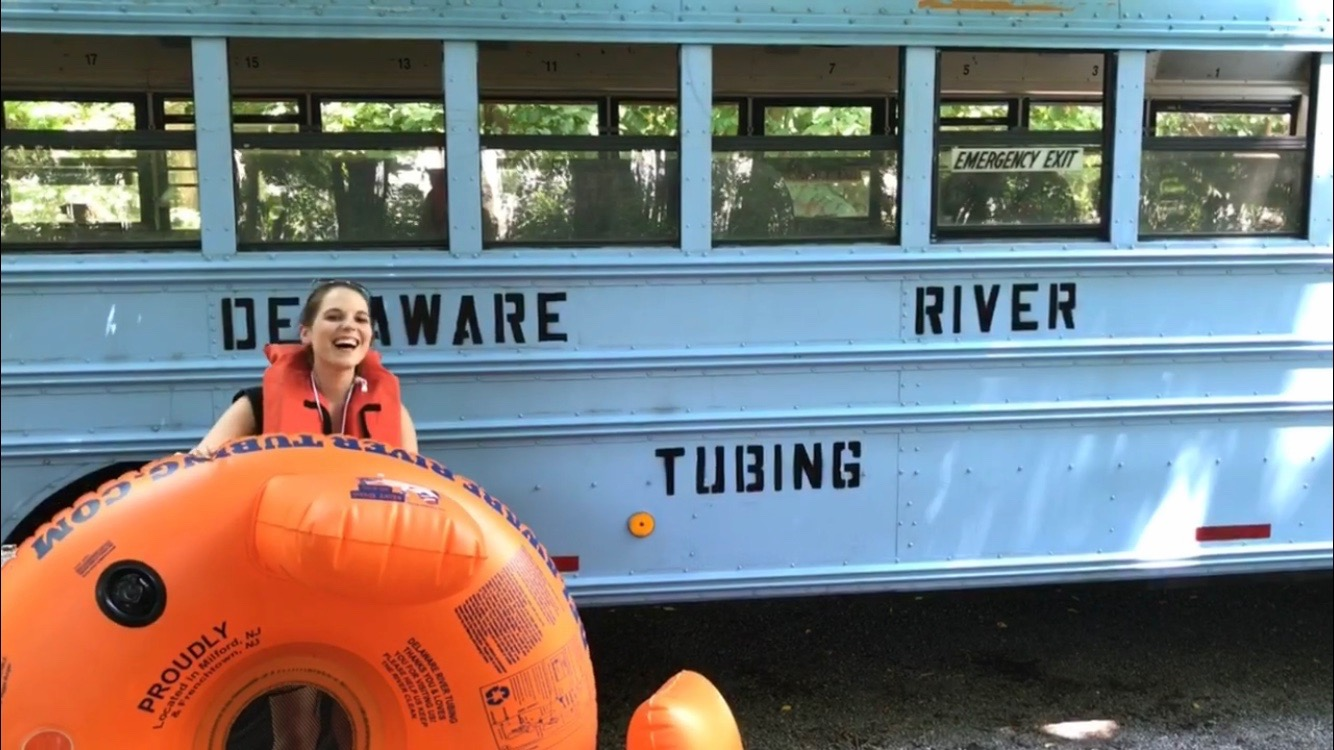 2 hot dogs, a lost flip flop and a killer tree branch. My tubing trip down the Delaware River.