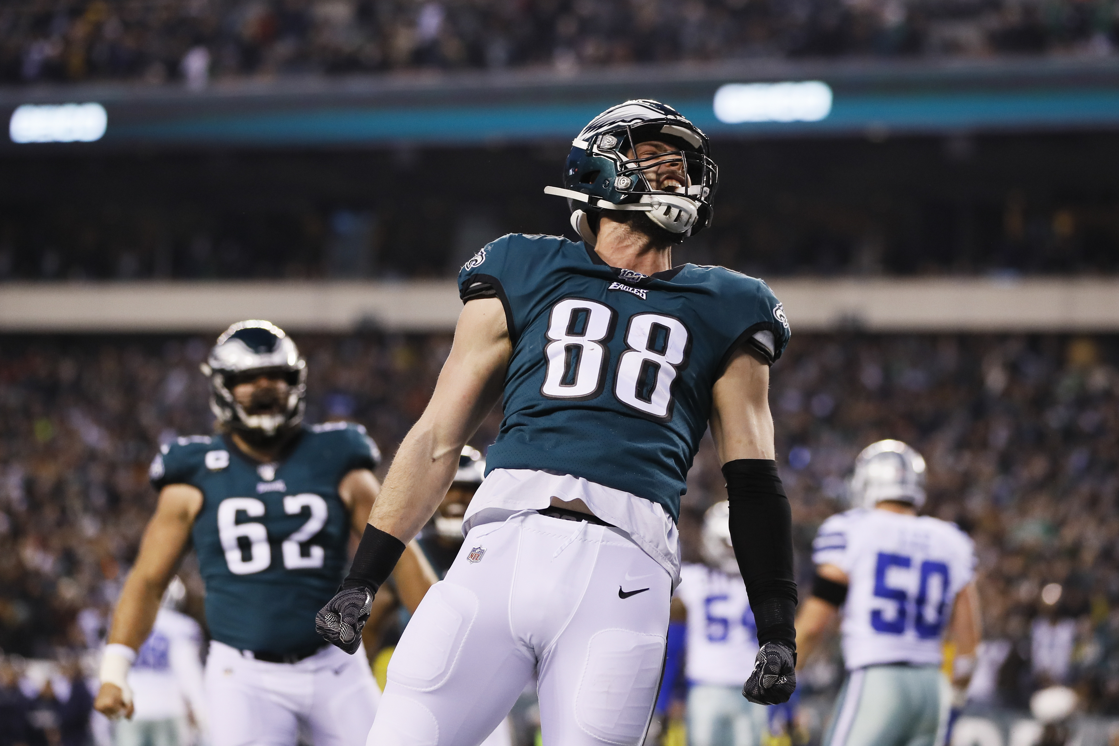 Eagles lean on career night from Dallas Goedert in win over Cowboys -  pennlive.com