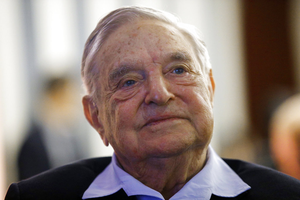 In this May 29, 2018, file photo, philanthropist George Soros, founder and chairman of the Open Society Foundations, attends the European Council On Foreign Relations Annual Meeting in Paris. (AP Photo/Francois Mori, File)