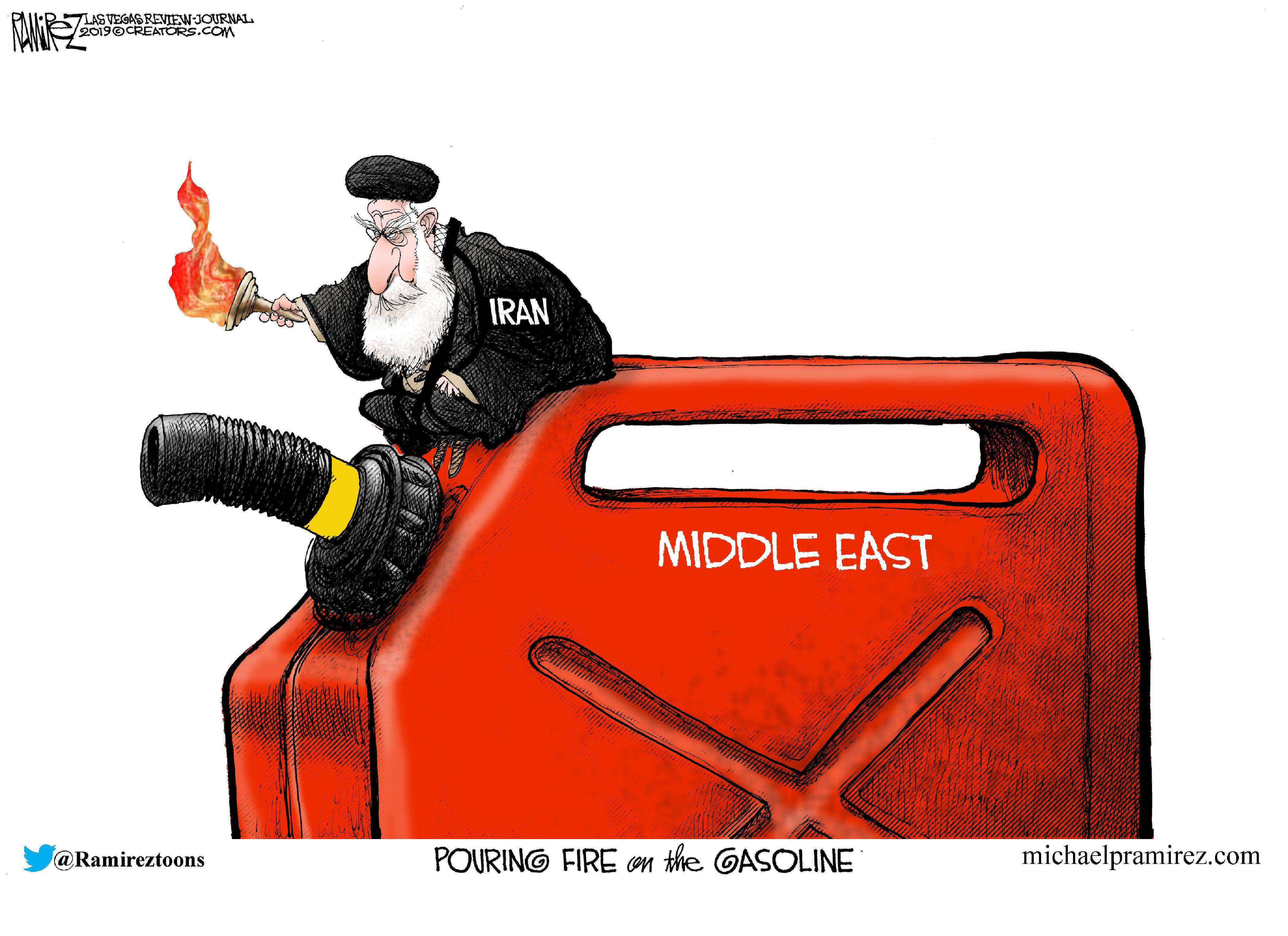 Editorial cartoons for Sept. 22, 2019: Saudi drone attack, presidential campaign, impeachment talk